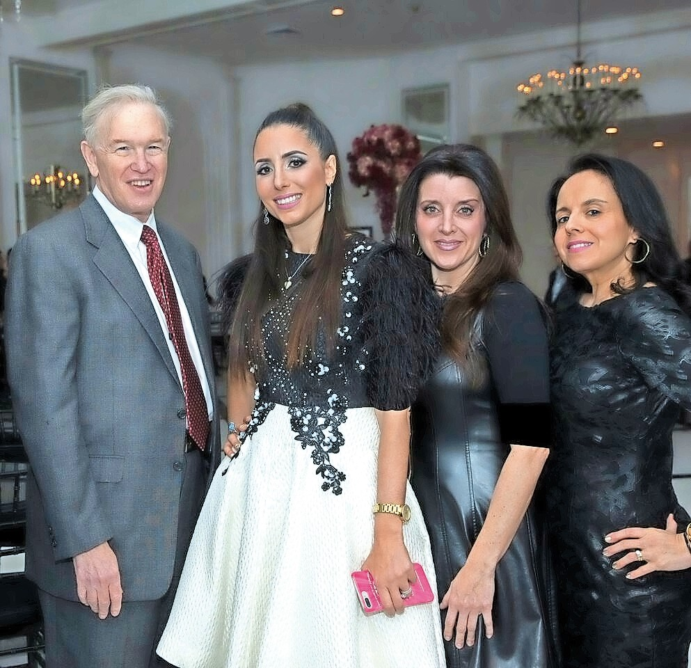Temple Beth El in Cedarhurst hosted the Couture For A Cause fundraiser. From left were County Legislator Howard Kopel (R-Lawrence), Couture co-founder Michael Weinstein, Daliah Myers and Tammy Mark.