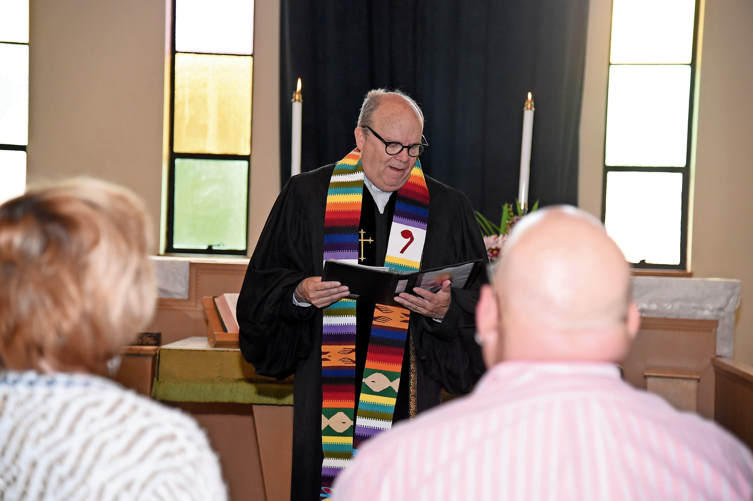 The Rev. Ron Garner, the church's pastor, presided over the ceremony.