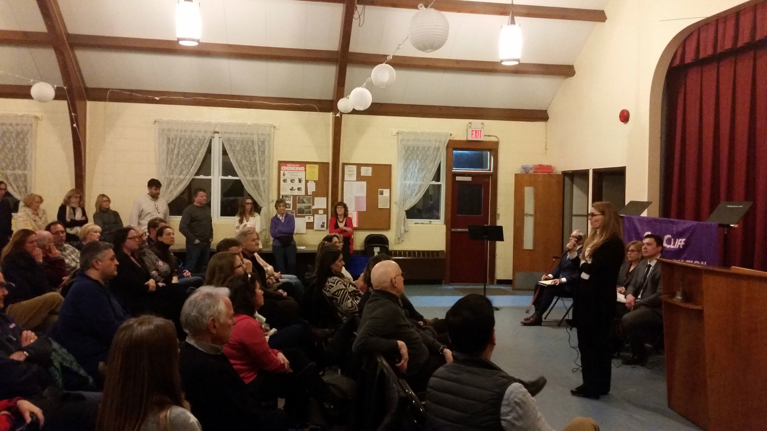 "Each candidate for Sea Cliff's upcoming village election had the opportunity to speak with residents at ""Meet the Candidates"" on March 15. With Deborah McDermott, Jeffrey Vitale, Dina Epstein, and Ed Lieberman"
