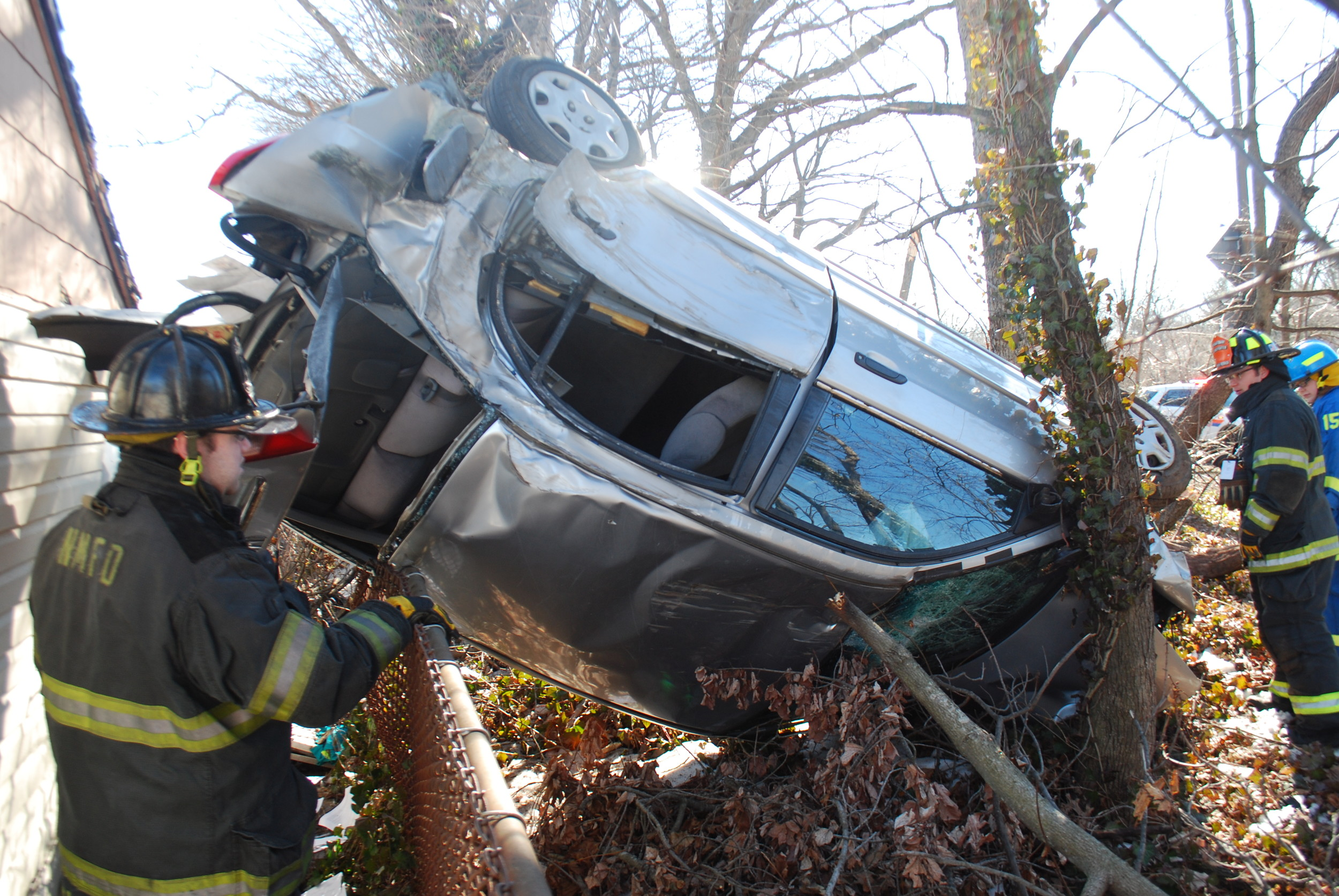 Eventz J. Francois, 26, of Amityville, crashed and flipped his car before fleeing from the scene, police say.