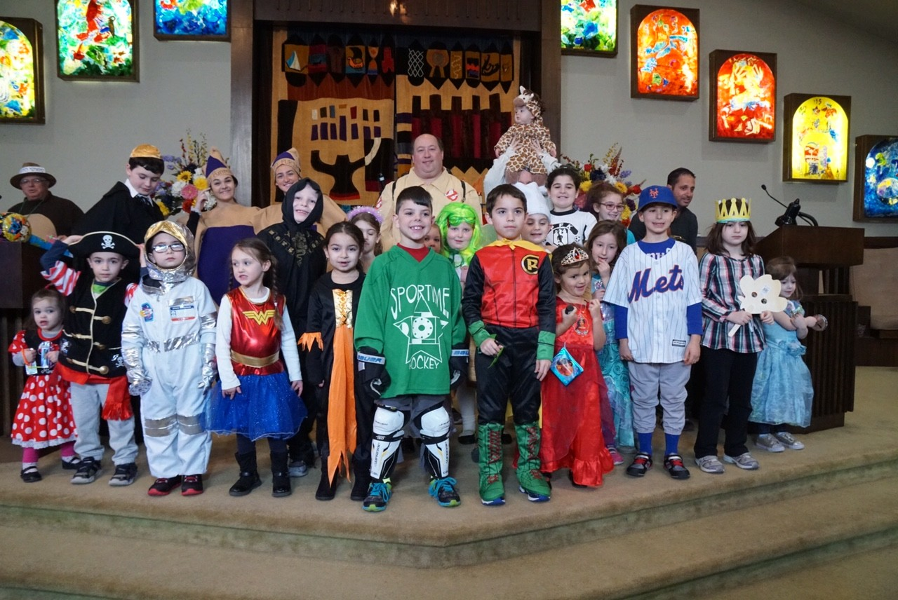 Temple Beth Am's Purim Carnival was sponsored and run by Temple Beth Am's Brotherhood and was attended and enjoyed by over 120 costume-clad children from the Bellmore-Merrick community.