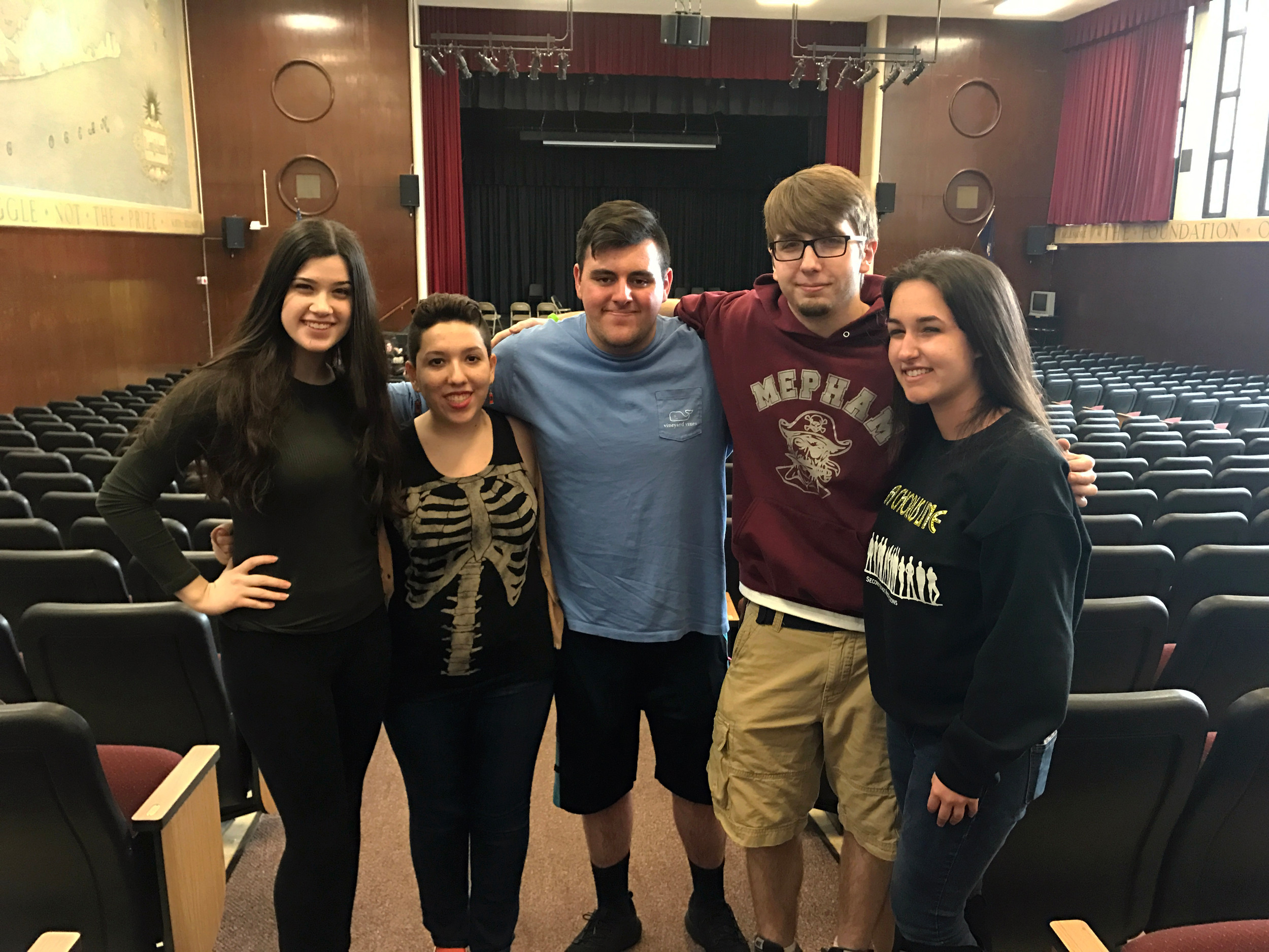 Edward Grosskreuz, Director. Alaina Ciorra, Robbie Commisso, Sam Pepe, Mike Pioli and Melissa Ponton, 12, spoke with the Herald about their upcoming spring musical.