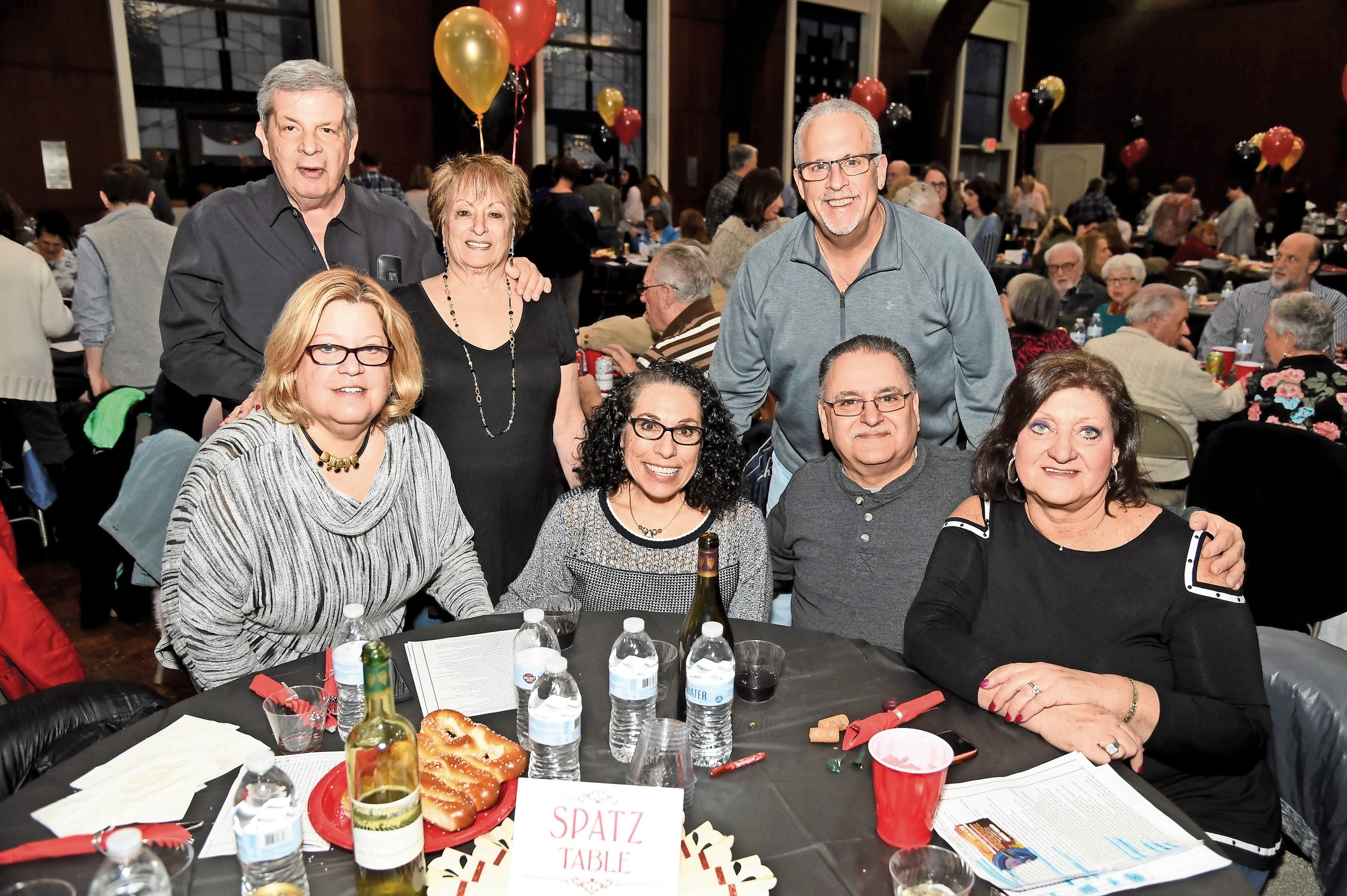 Mike and Marilyn Worcinoff, Jay Jacobson, Andrea Rifkin, Sherrill Spatz, Mike Paccione, Stephanie Jacobson had a blast at the Temple B'Nai Torah gala on March 18.