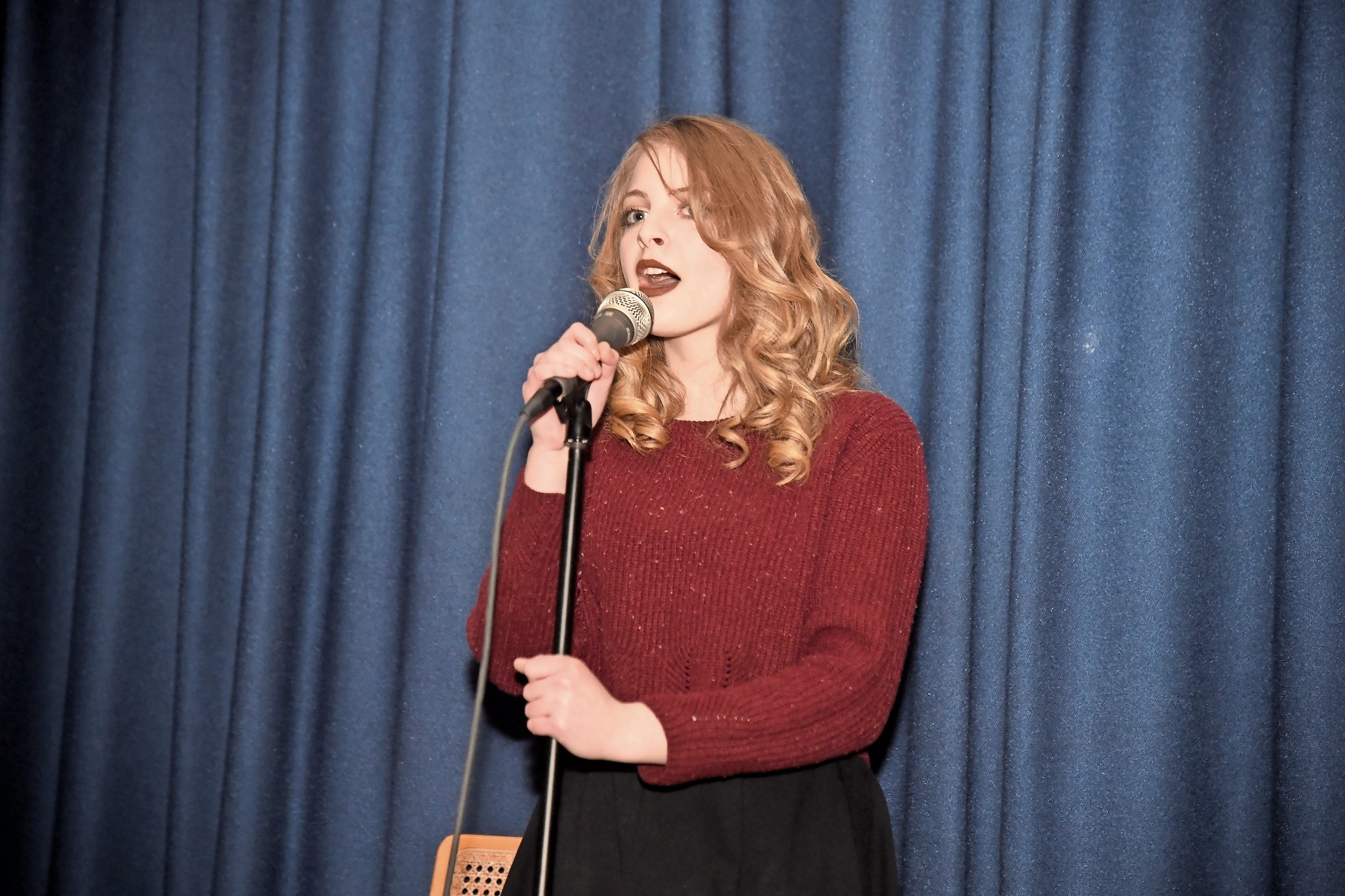 Jordan Cooney entertained the guests.