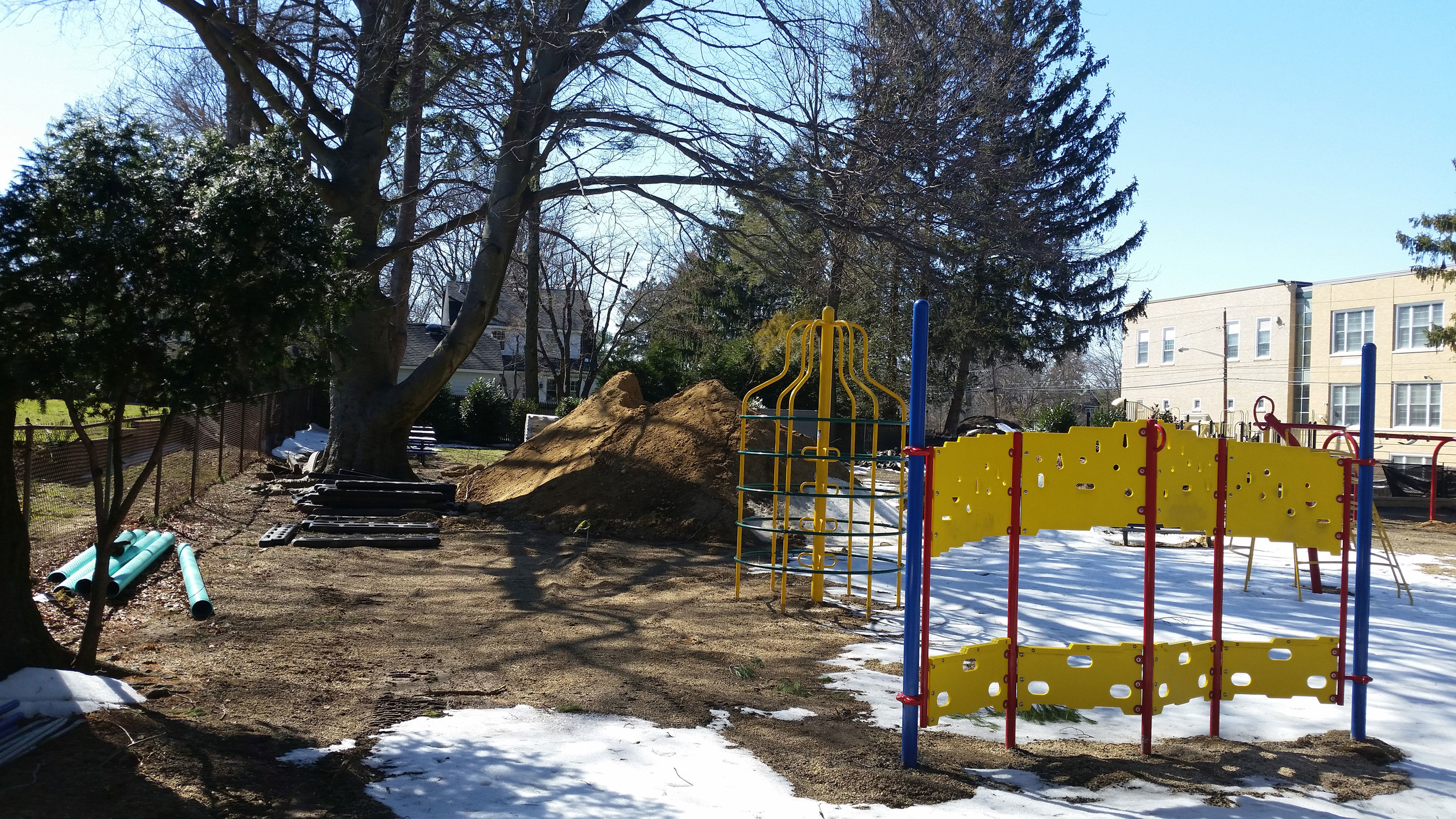Sea Cliff Elementary School's playground reconstruction is entering its final stages.