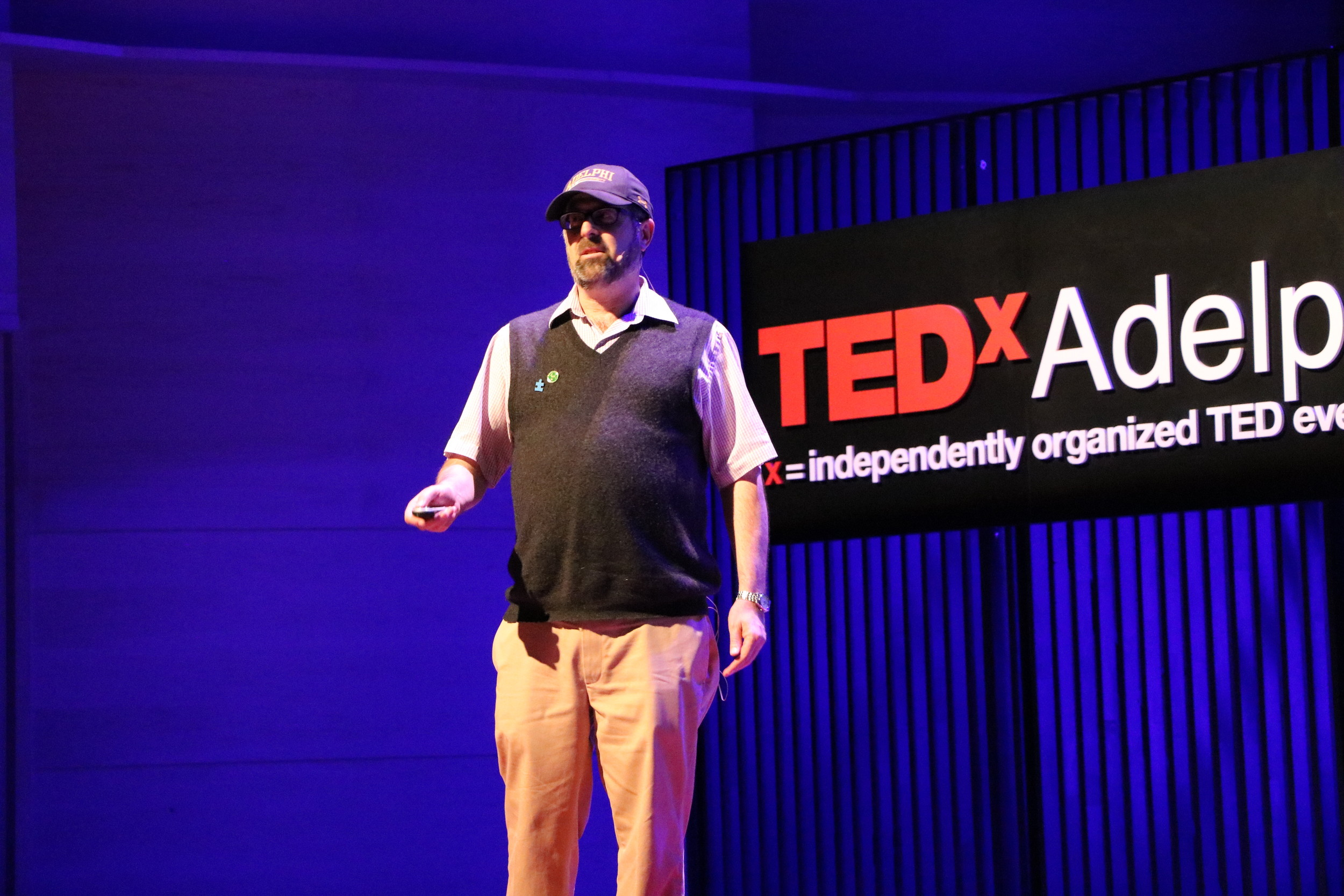 Dr. Stephen mark Shore spoke about autism at Adelphi's second annual TEDxAdelphiUniversity lectures last week.