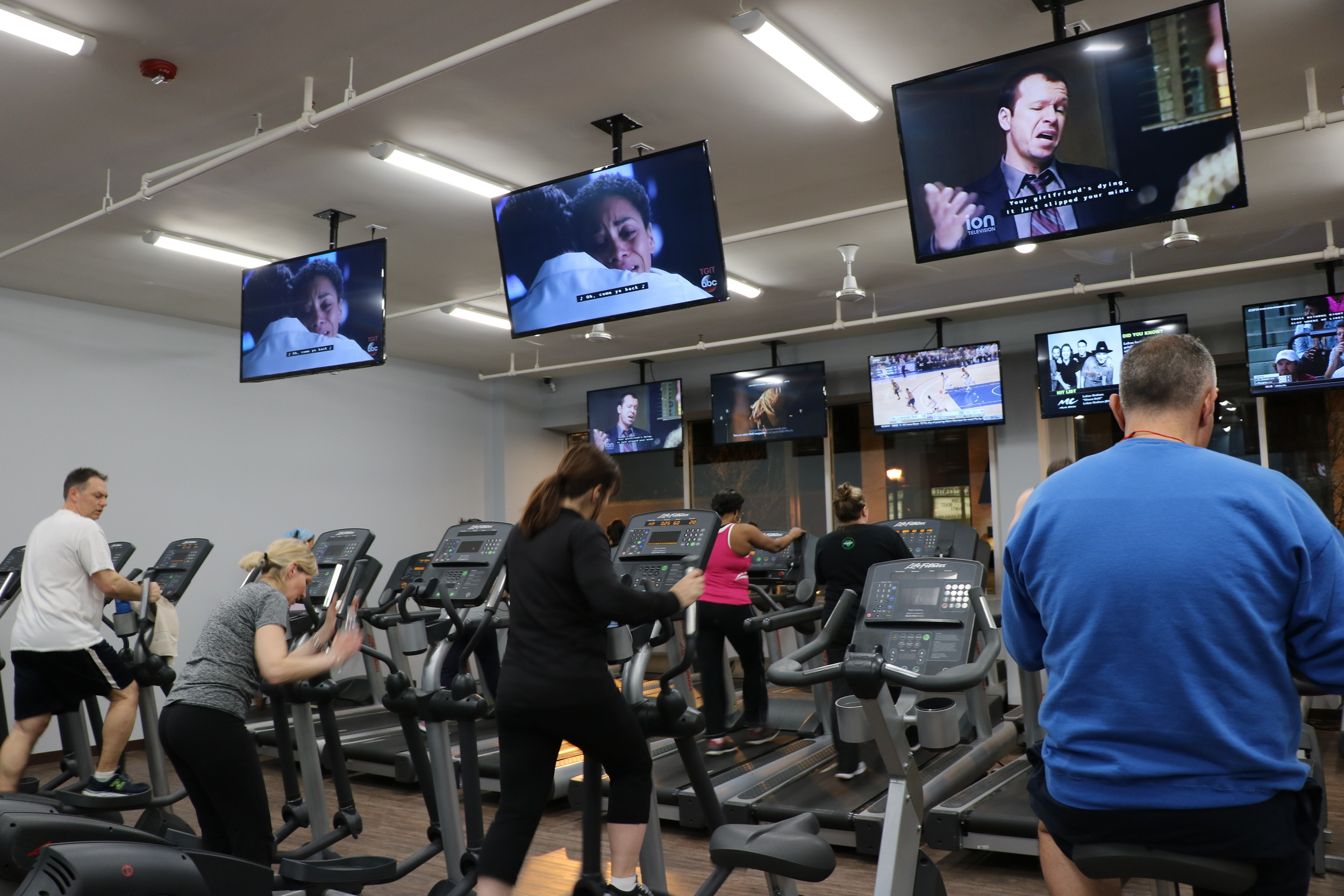 Fitness 19 boasts over 100 exercise machines, and has group classes starting as early as 5:30 a.m.