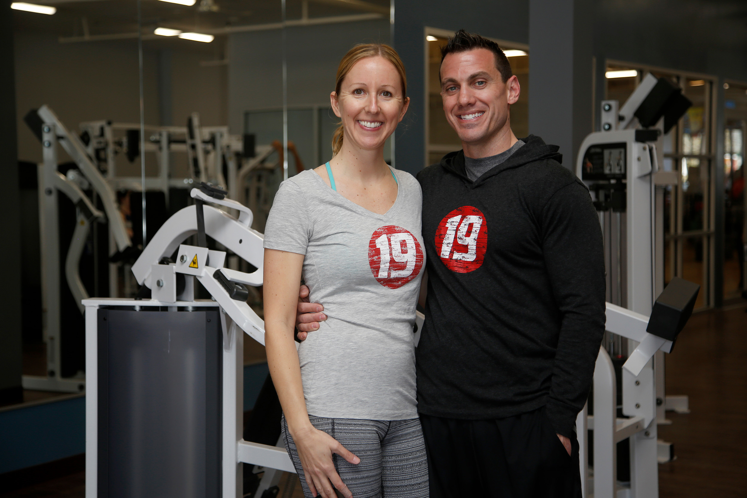Fitness 19 owners Kelly and Michael Hobbs.