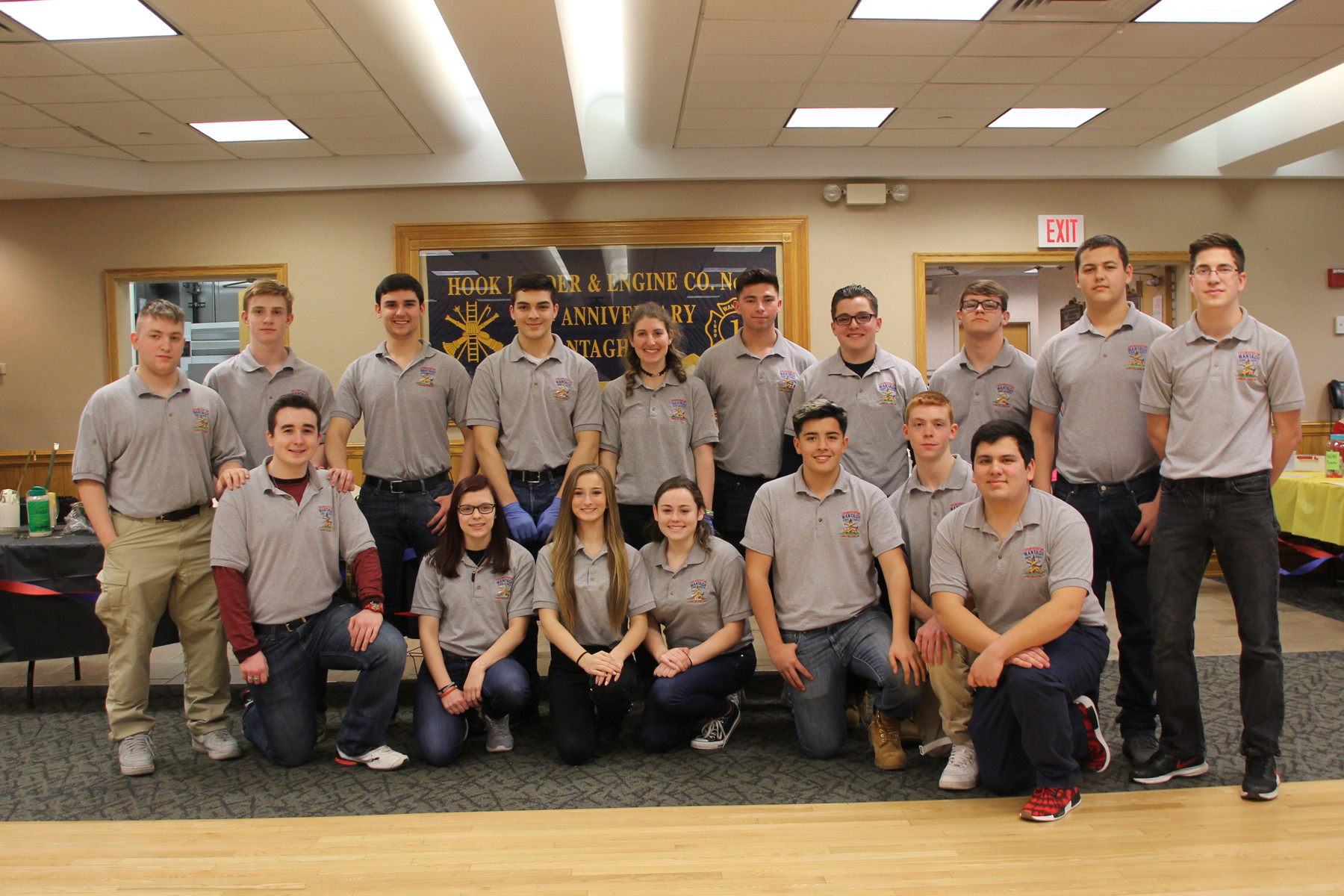 The teenaged members of Wantagh Fire Department Explorer Post 690 hosted a pasta dinner fundraiser for local folks on March 26.