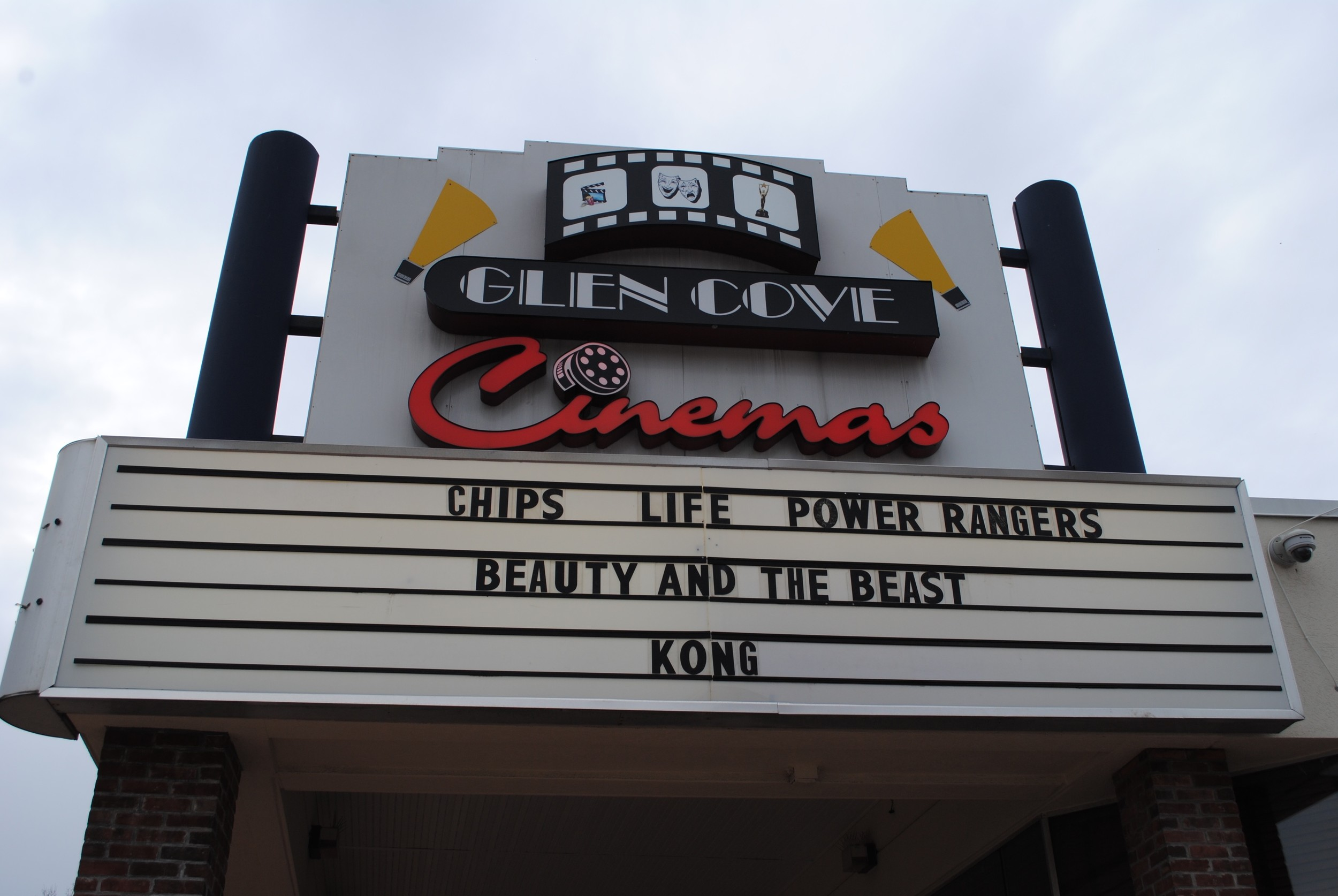 The marquee at Glen Cove Cinema will soon indicate that it is an AMC theater.