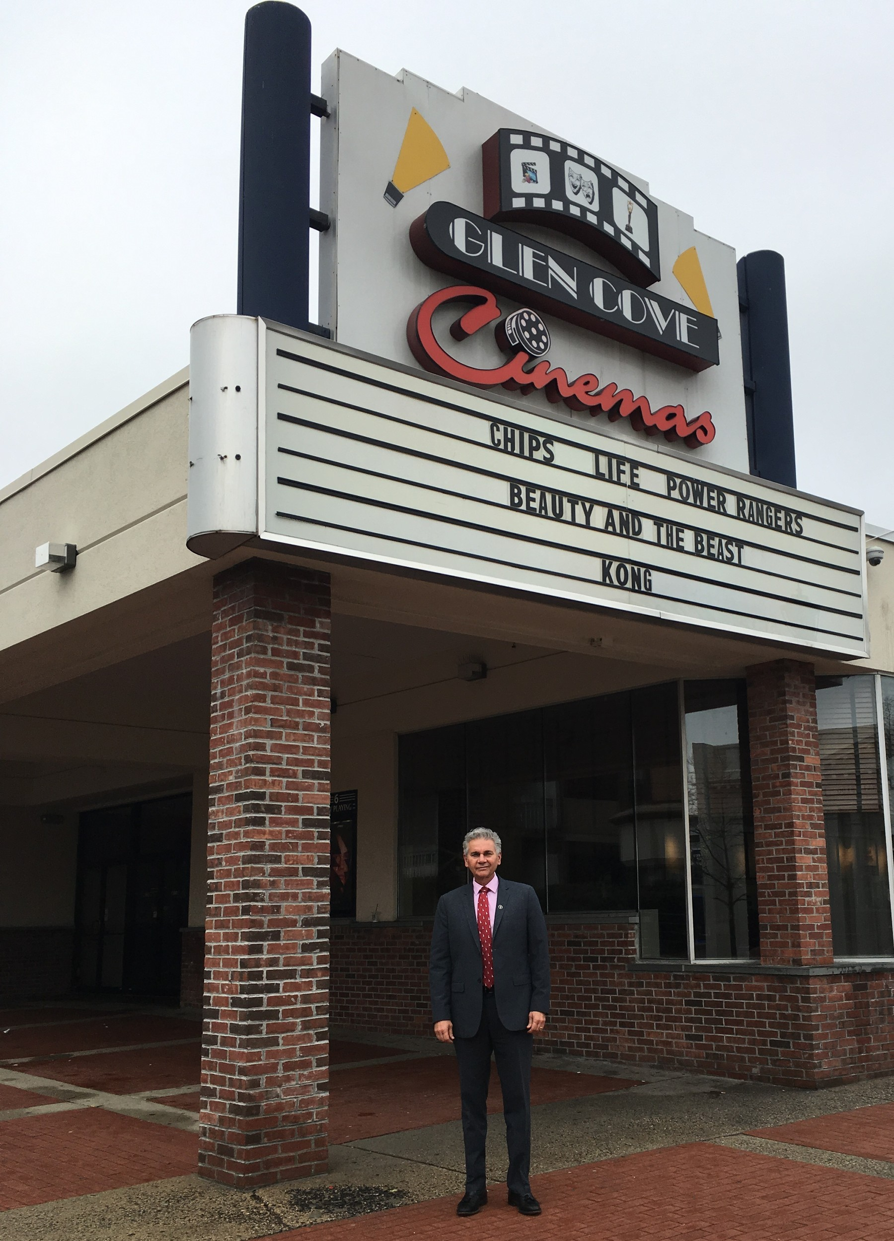 Glen Cove Mayor Reggie Spinello believes a new theater will be beneficial.