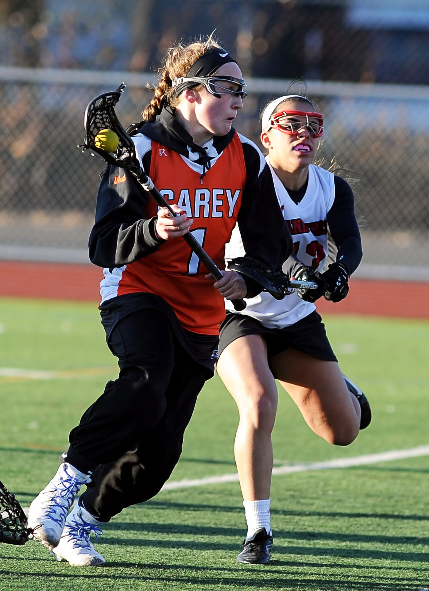 Carey's Kelly-Ann McGrath is off to an incredible start as a freshman with 16 goals through three games, including a seven-goal effort in the opener at Island Trees.