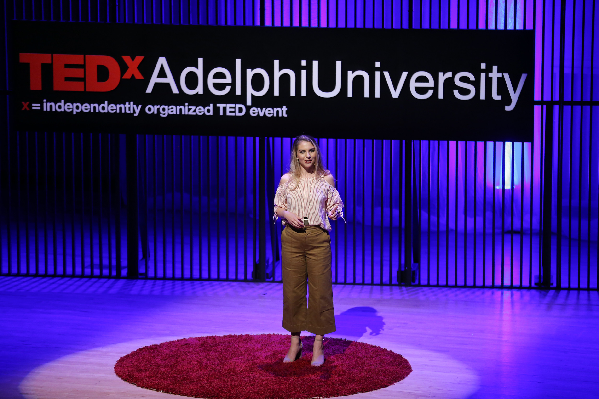 Kaitlinn Estevez, 24, of Valley Stream, delivered a powerful talk at the second annual TEDxAdelphiUniversity on March 31 about her struggle with mental illness.