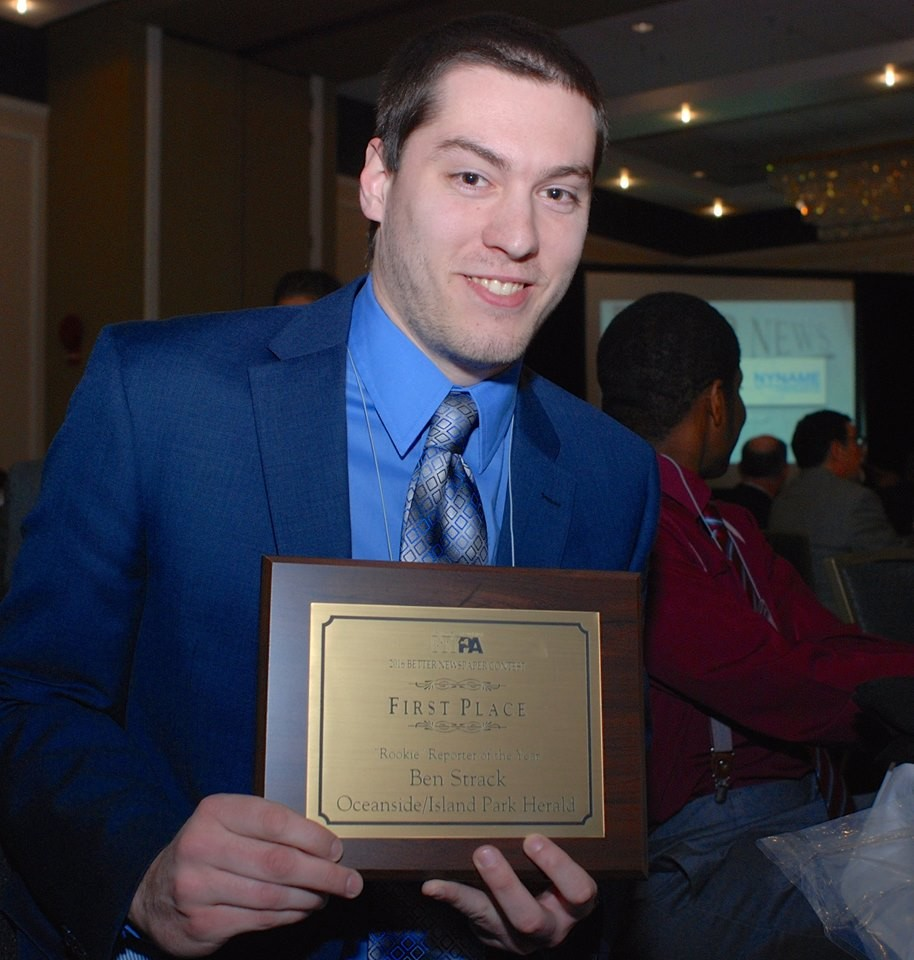 Ben Strack, Rookie Reporter of the Year, First Place