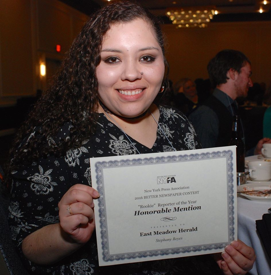 Stephany Reyes, Rookie Reporter of the Year, Honorable Mention