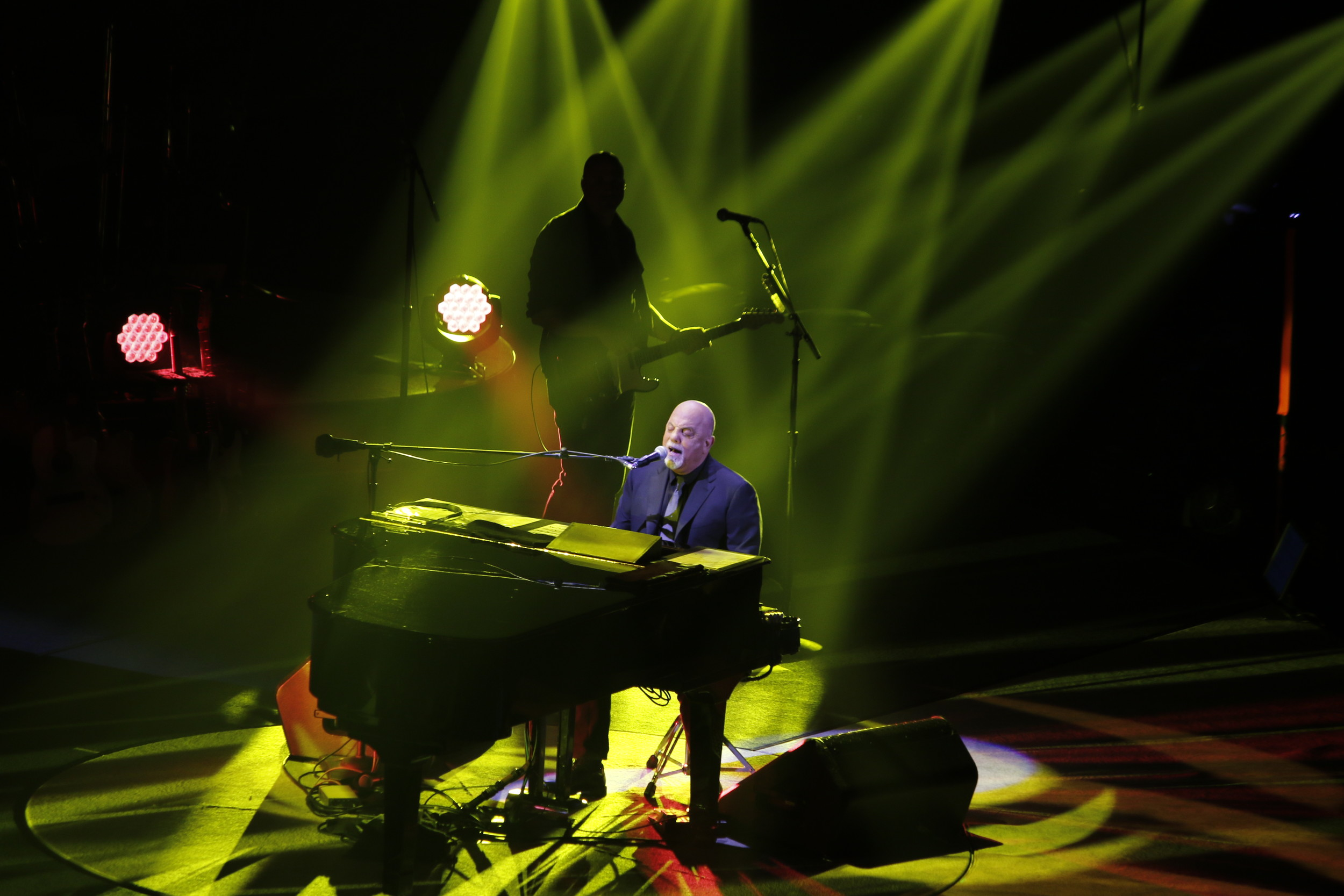 Billy Joel played the first concert at the newly renovated Nassau Veterans Memorial Coliseum on April 5, his 33rd show at the venue.