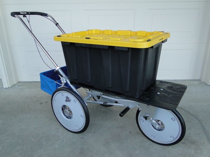 "The cart that Finnegan used, affectionately called ""Caddy"", had to have a wheel fixed in Ohio."