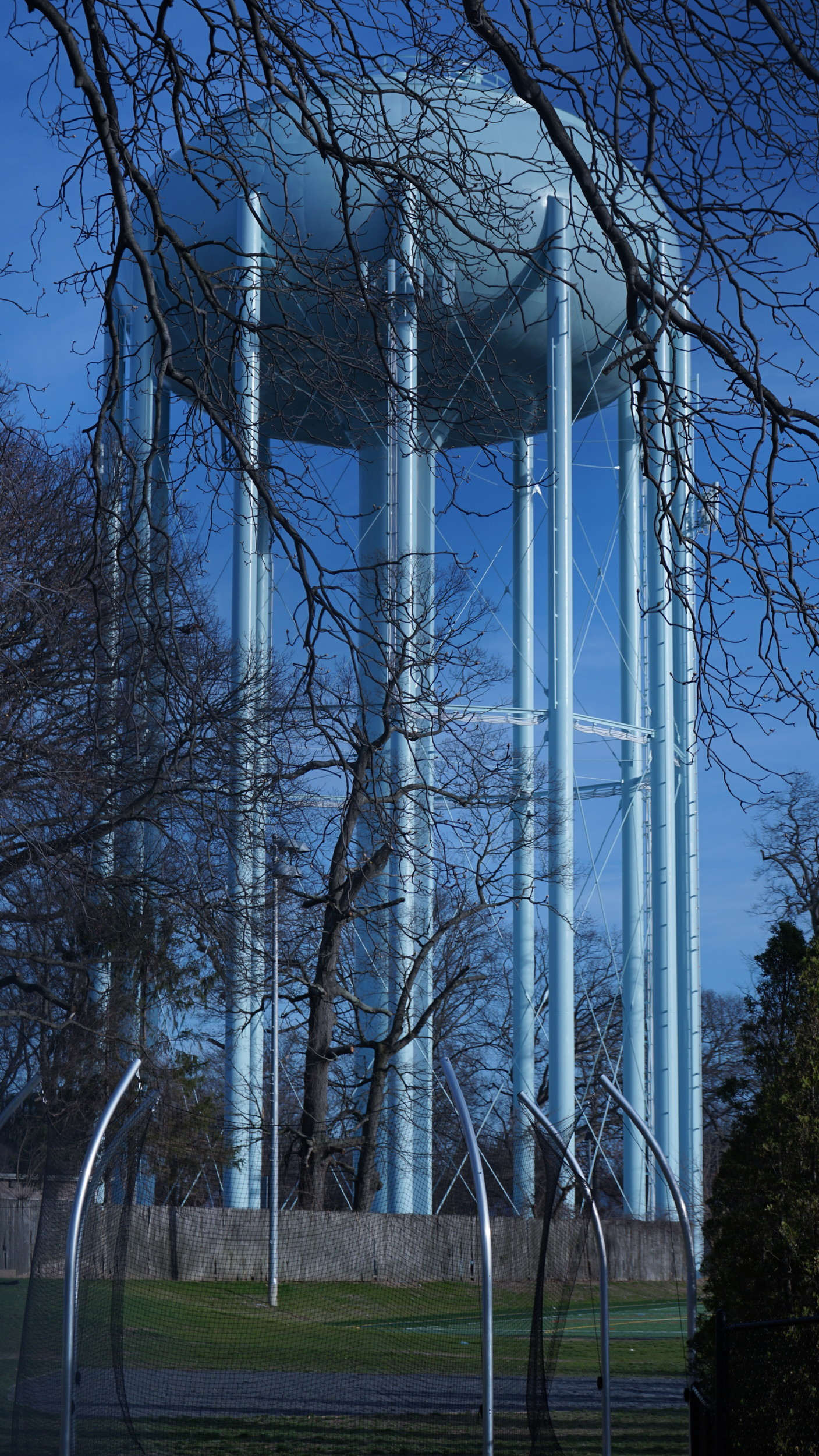 The last village water tower to be repainted was tower No. 1 by South Side High School in 2015.
