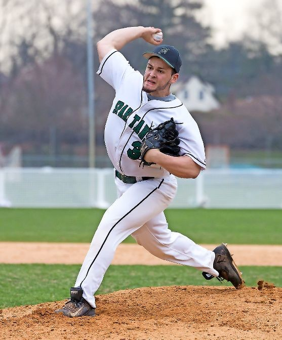 Senior Jon Caluori pitched a gem for the Spartans in the middle game of last week's series against Lynbrook and earned a 3-0 win on April 13.