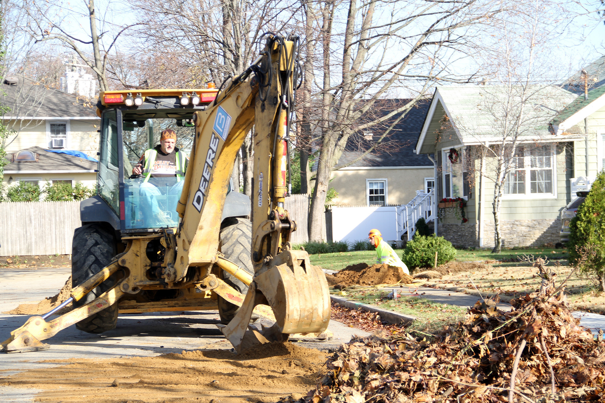 New York American Water prepared a Malverne street for new water mains last year. The state said last week it will invest $2.5 billion in water infrastructure projects.