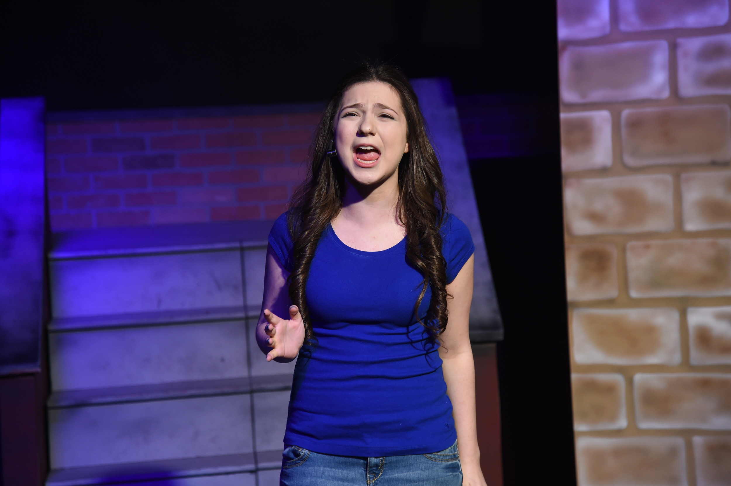 "Oceanside High School sophomore Rebecca Goldfarb played the role of Nina Rosario in Second Stage Productions' ""In the Heights"" at Merrick's Backstage Theatre."