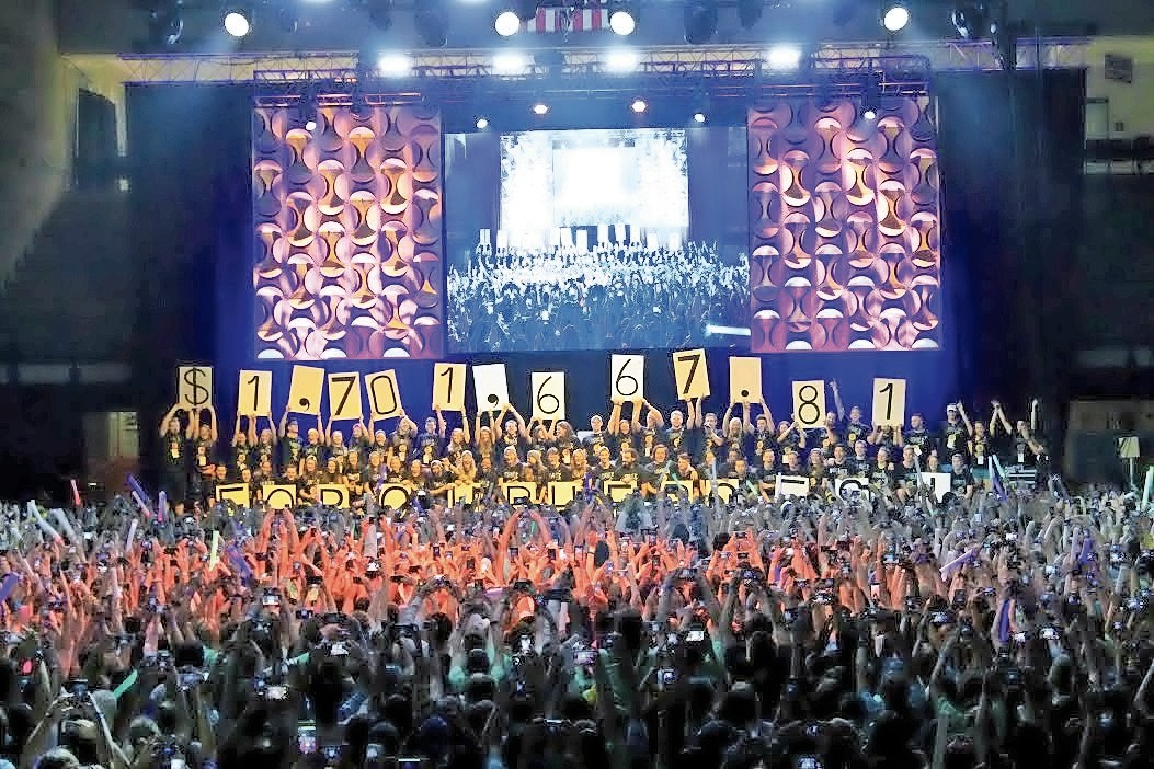 University of Delaware students at the UDance marathon raised nearly $2 million for the Andrew McDonough B+ Foundation throughout the school year.