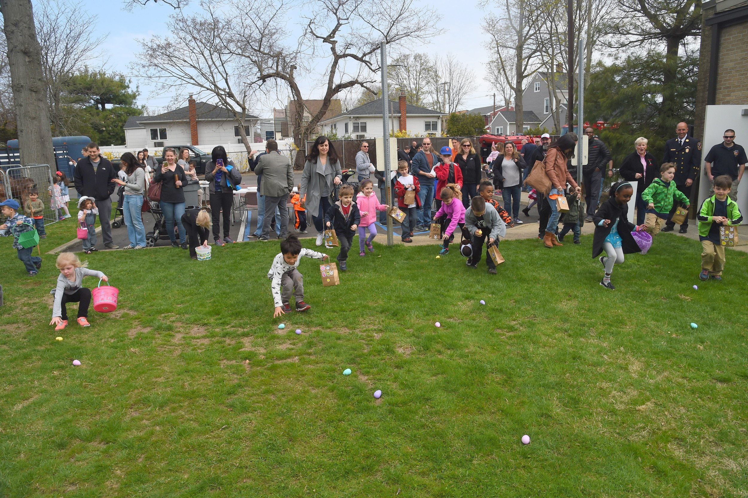 "Ron Luparello, of Empire Hose Company 3, said that the Easter ""Eggstravaganza"" on Saturday was so popular that some adjustments had to be made to accommodate the eager youngsters hunting down eggs."