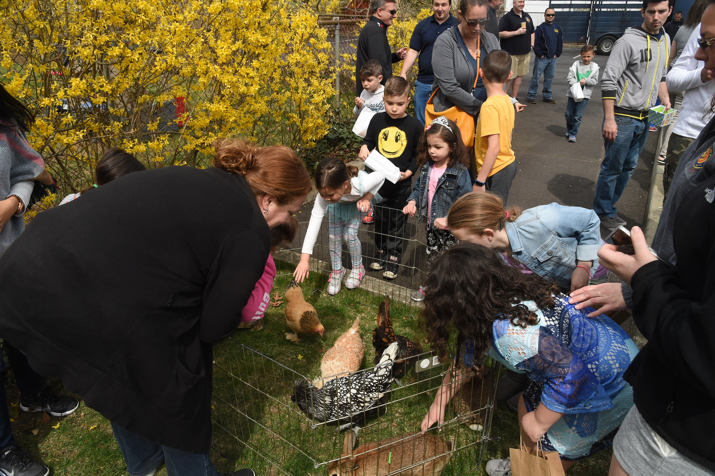 "A variety of farm animals were a hit with the children at Empire Hose Company 3's Easter ""Eggstravaganza"" on Saturday."