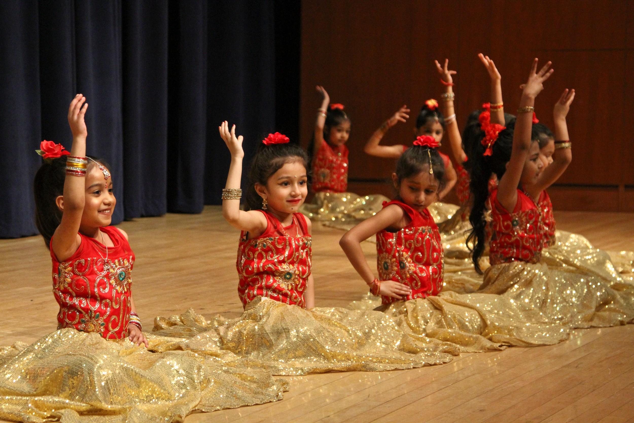 At Children's Day, the Ghagara dance was choreographed by Shilpa Jurani, Arya Dance Academy and performed by Dia, Valentina, Priya, Sumayah, Anaya, Lianna, Ava, Sienna, Jeel, Tanvi, Surya, Neeti, Riya, Aashna Kajal and Maitri. Aashna Kajal, Maitri, Choreographed by Shilpa Jurani, Arya Dance Academy.