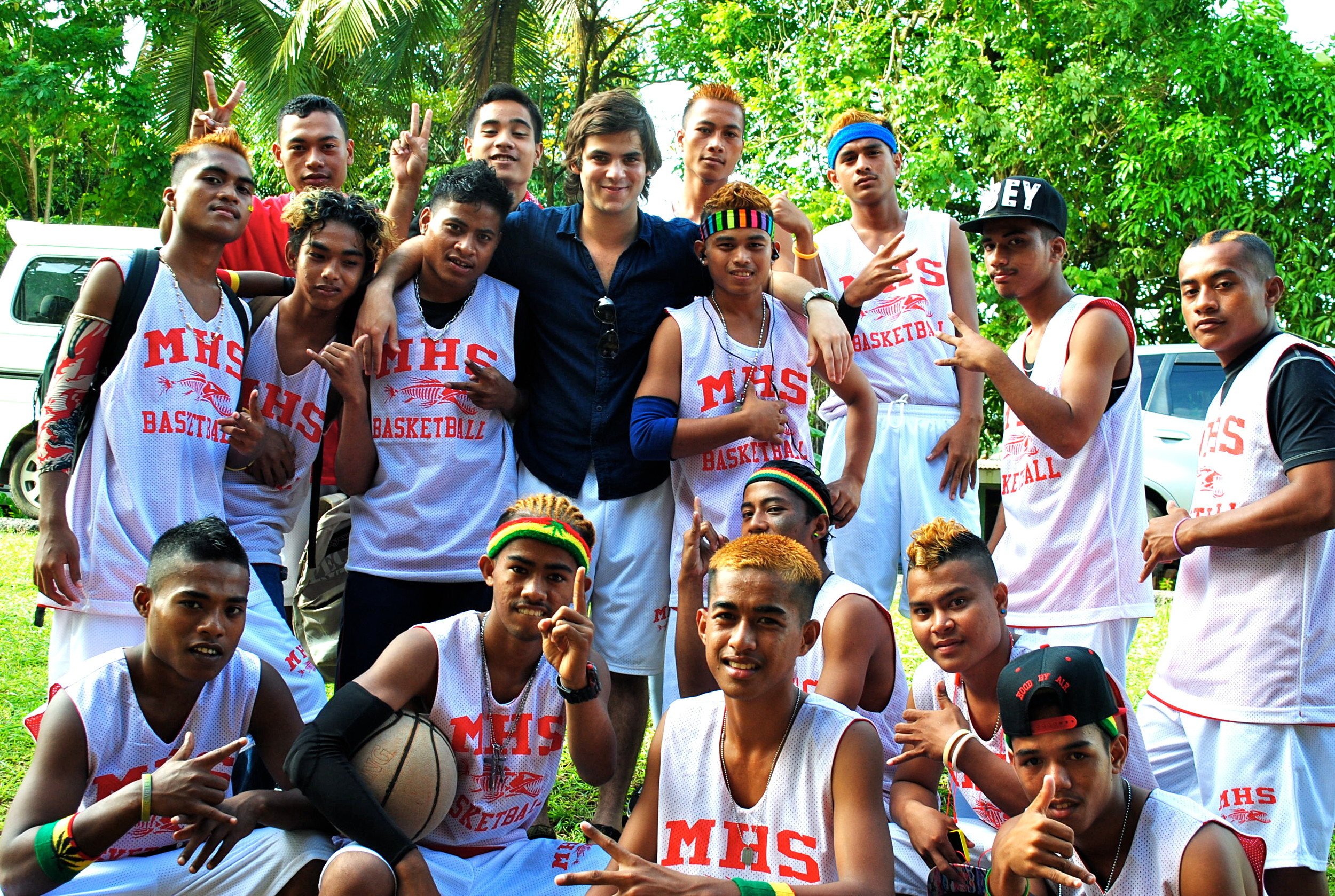 Oceanside native Jason Steinberg started a basketball program at a high school in Pohnpei, Micronesia, in 2014, which led him to establish the International Sports and Music Project a year later.