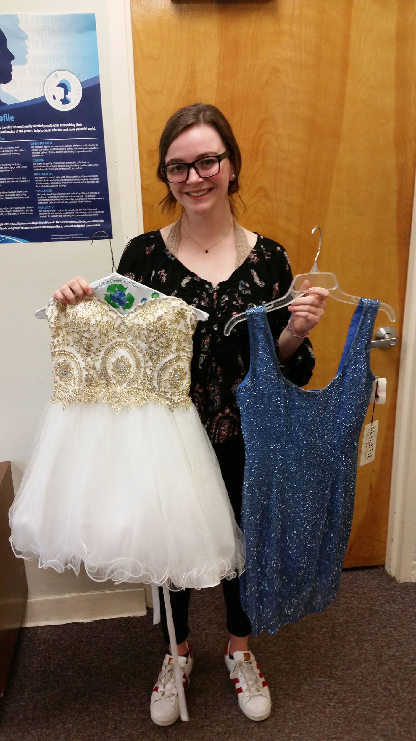 Siobhan Esposito, 17, of Sea Cliff, said all young women deserve to have their own prom dresses.