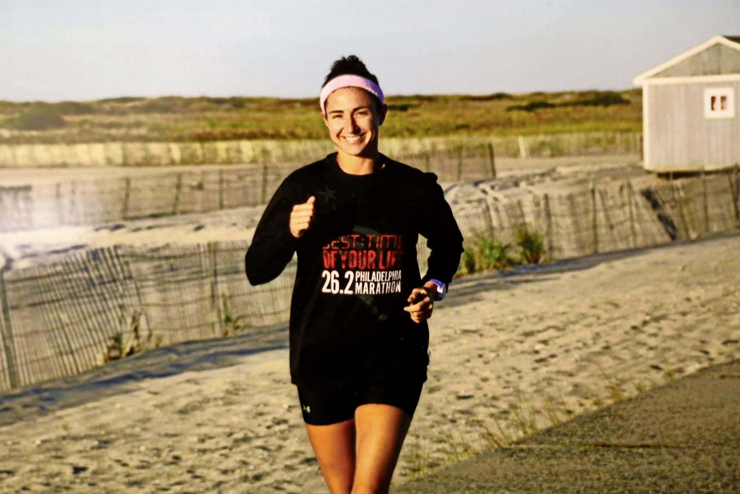Perno-Grosser competed in the Bethpage Ocean to Sound Relay, sponsored by the Greater Long Island Running Club, at Jones Beach State Park.