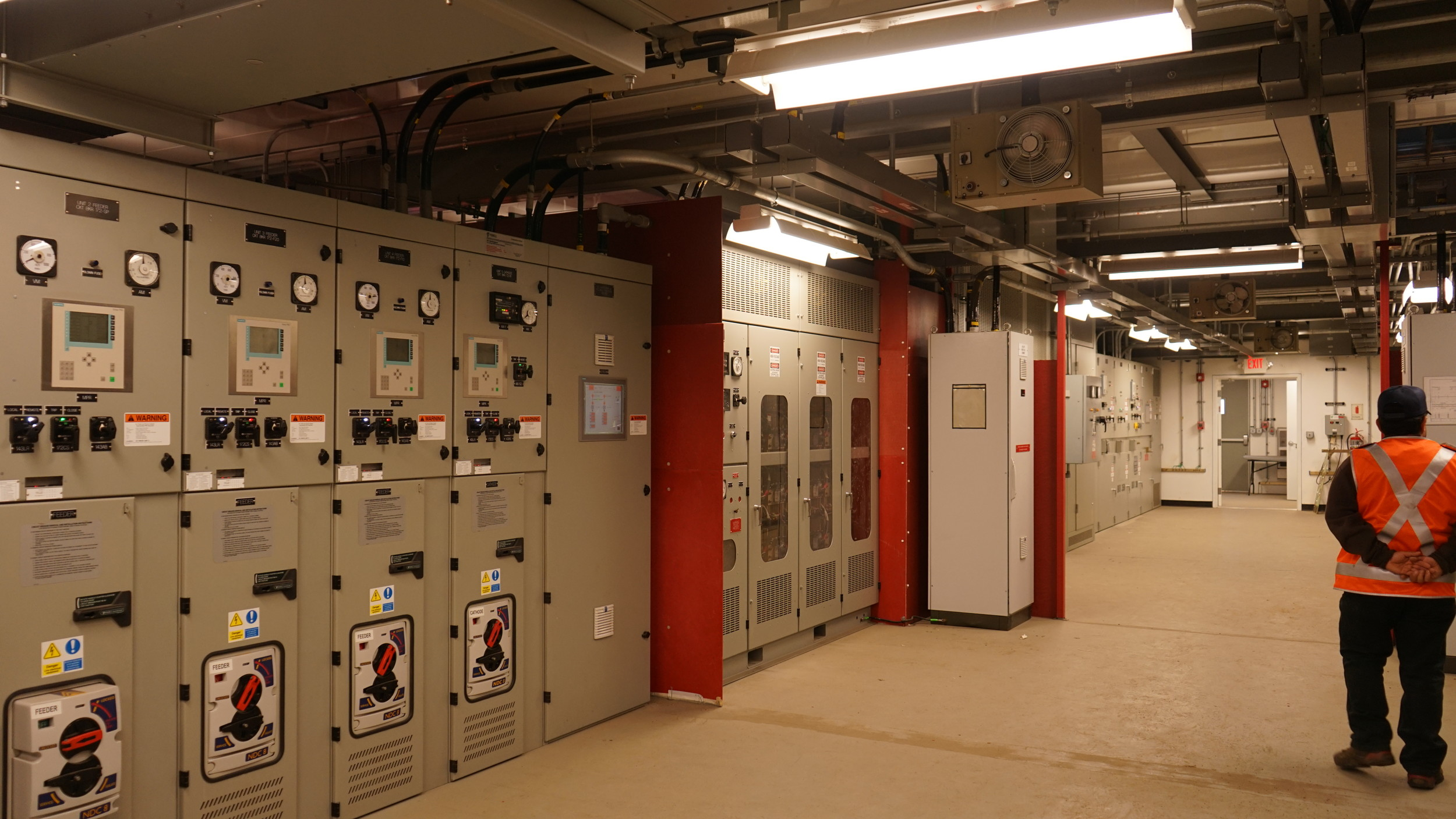 A rare look inside one of the newly constructed substations that supplies electricity to the trains. The one pictured can be found at Oil City in Oceanside.