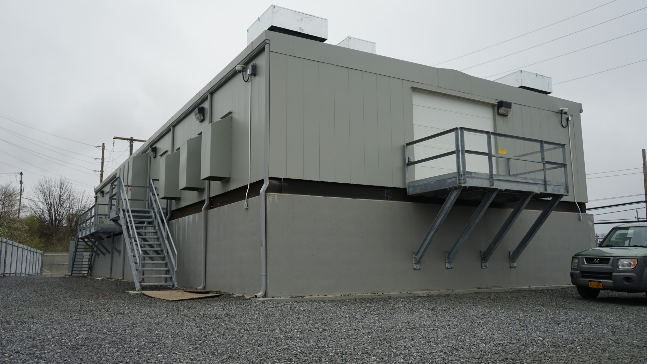 The substations are prefabricated and sit four feet above where floodwaters have been estimated to rise.
