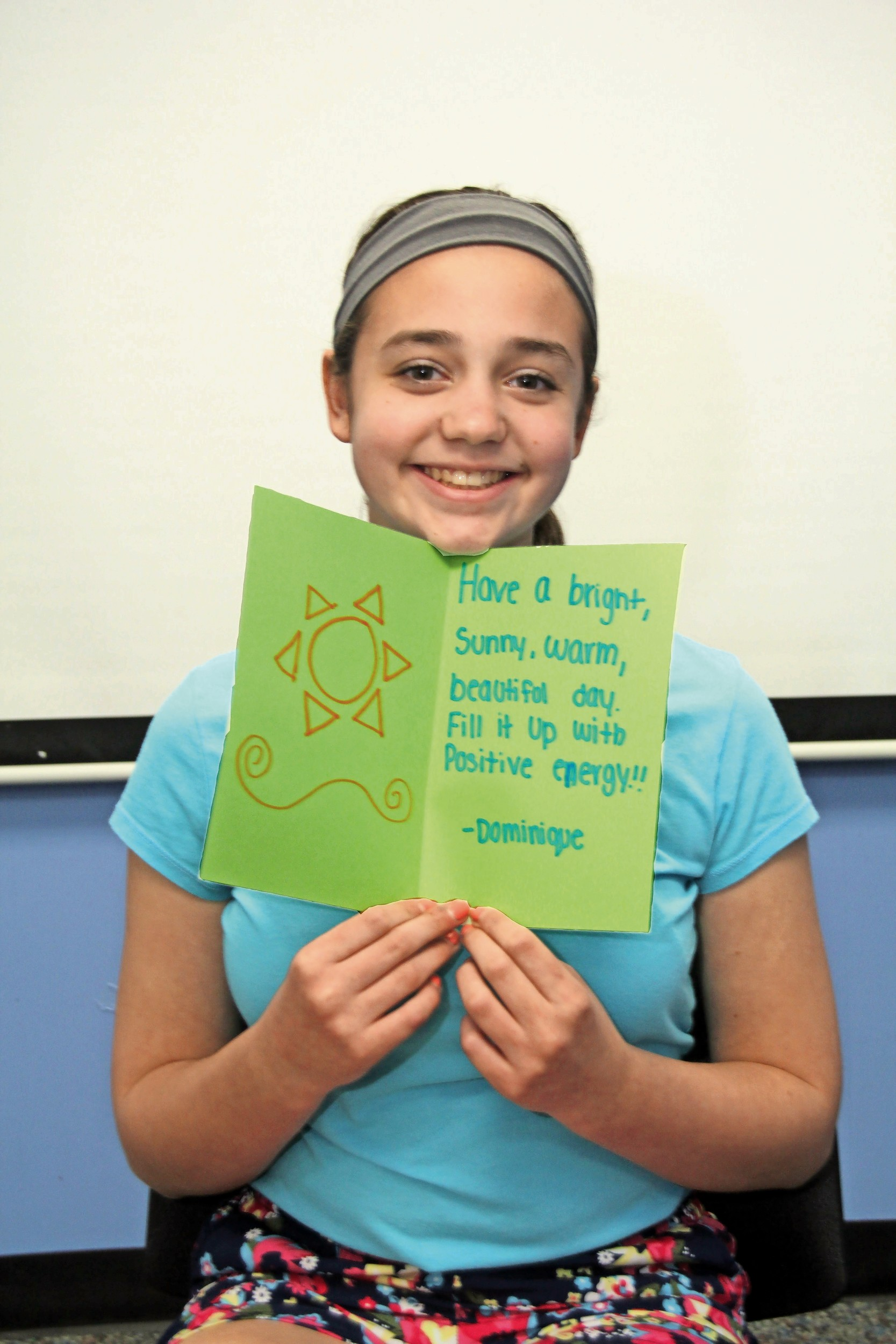 dominique cettina 14 offered words of encouragement in cards