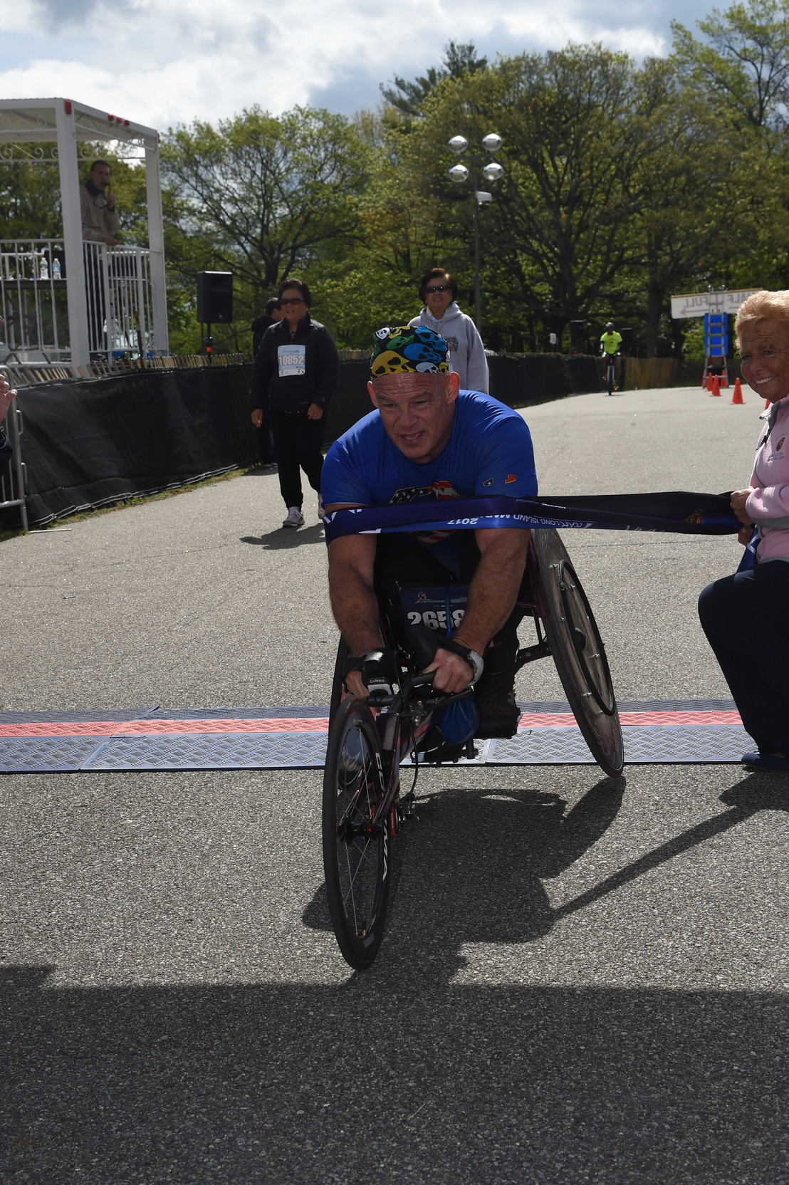 Peter Hawkins, who also won last year's Long Island Marathon, said that he plans to compete as long as he can.
