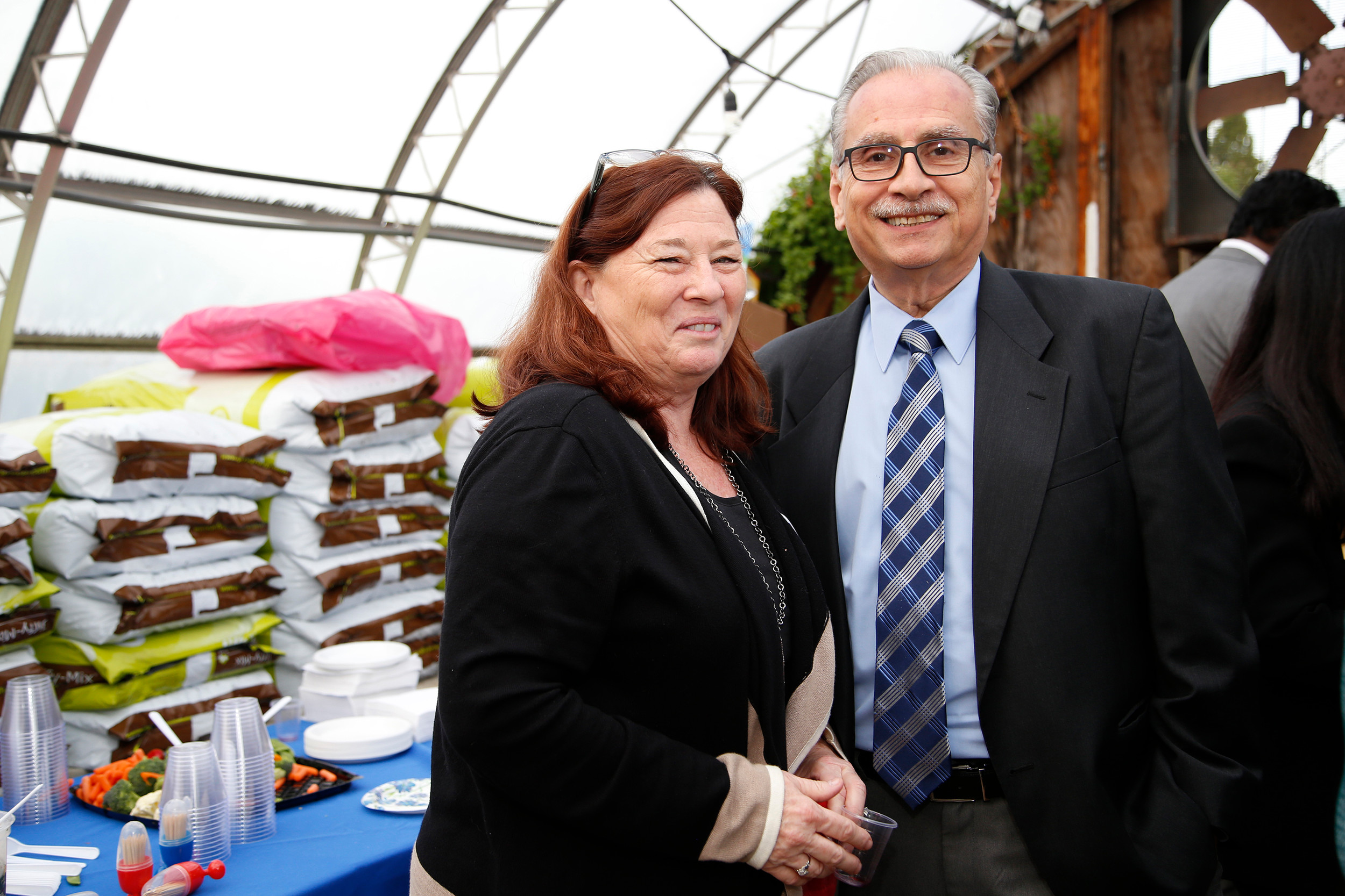 Kathi Monroe and Jack Sorrentino of the Malverne Chamber.