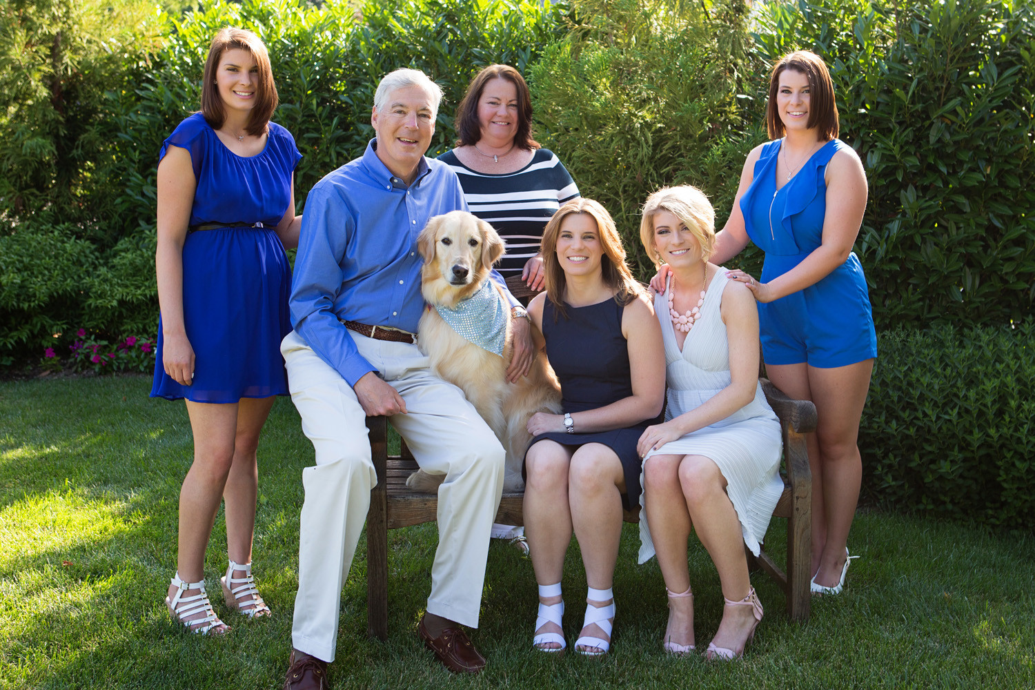 "Christopher, second from left, and Mary Beth Kearns, third from left, will be honored at the Rockville Centre Lions Club ""Dinner in the Dark"" fundraiser on June 3. Their four daughters are; Emily, from left, Meghan, Catie and Bridget."