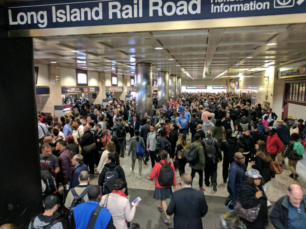 Thousands of commuters struggled to get home from an overcrowded Penn Station on May 10, when Amtrak-related signal trouble caused the cancellation of nearly 80 trains.