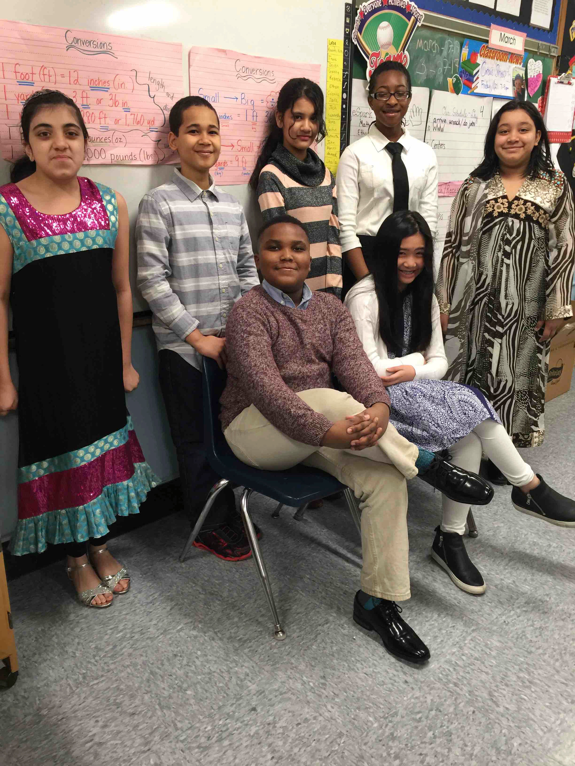Forest Road Elementary School students debated school uniforms.