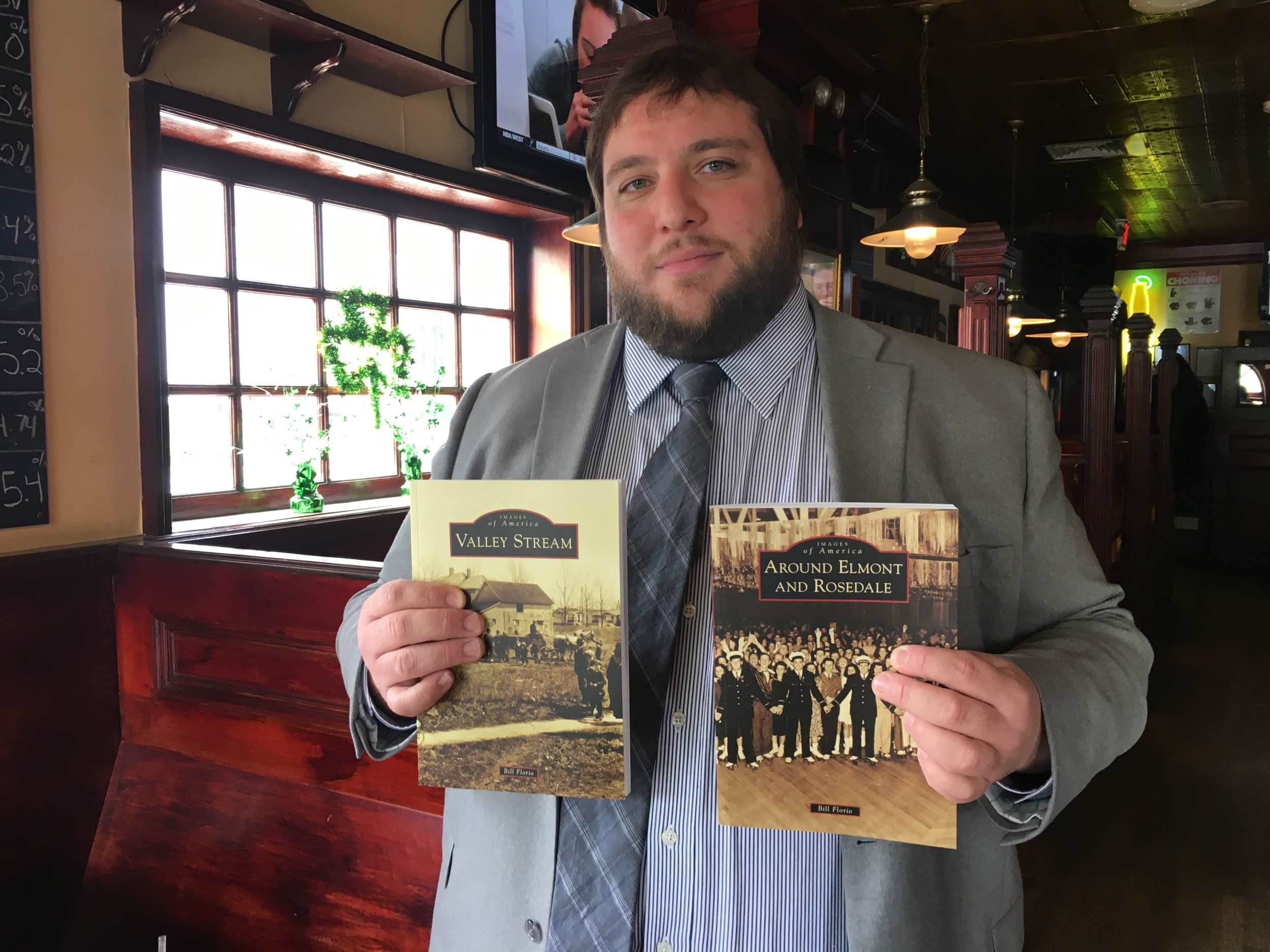 Bill Florio, 32, of Valley Stream, will publish his second historical book at the end of the month.