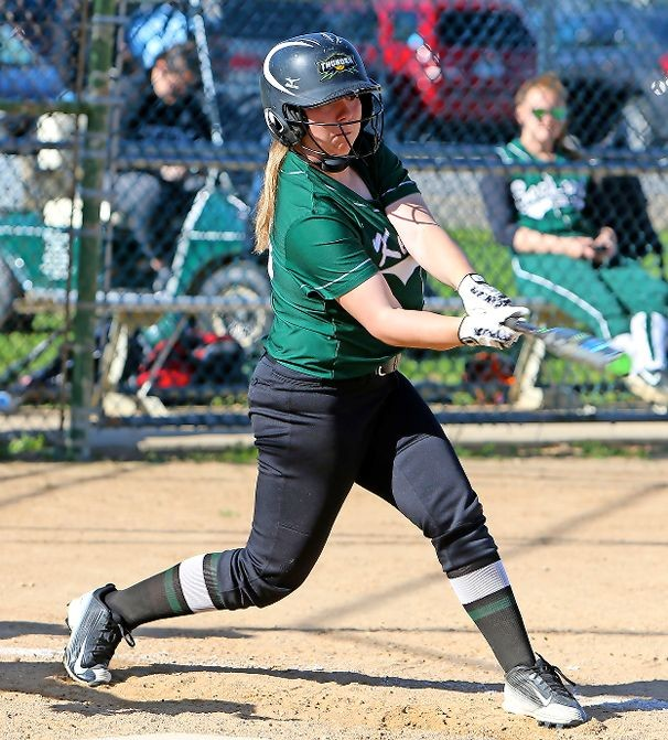 Junior Amanda Malandruccolo went 3-for-3 to help the Lady Cougars defeat Division, 5-1, in the first round of the Nassau Class A playoffs on May 10.