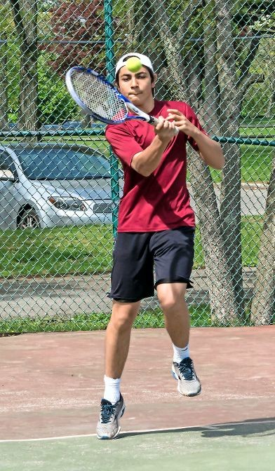 Sam Israel played a key role in a winning campaign for the Big Red on the tennis courts. Glen Cove enjoyed a four-match win streak from April 19-28.