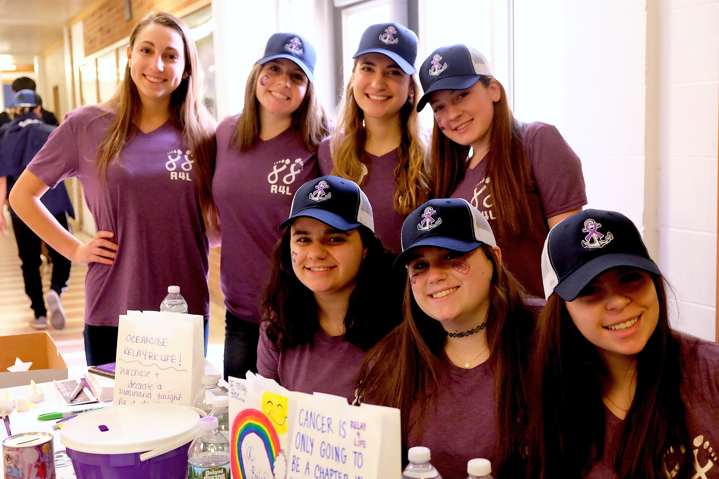 Oceanside High School students have been selling purple shirts and hats  leading up to Relay for