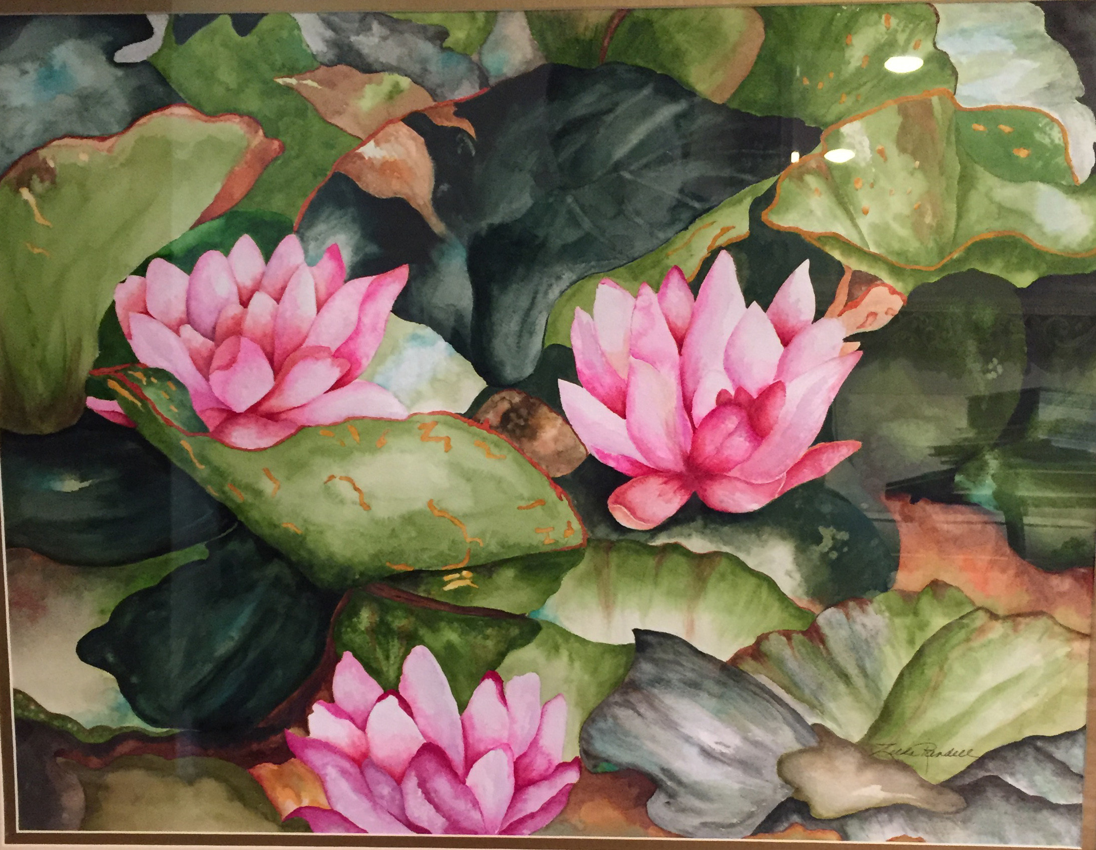 "Malverne's Zelda Randell is a watercolor artist who will have several paintings, including ""Water Lilies,"" on display during the ArtWalk."