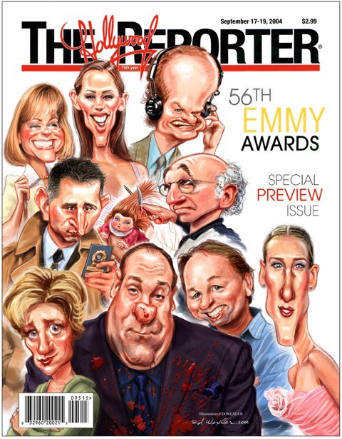 Wexler did some of his most notable work drawing Oscar and Emmy Awards nominees for the Hollywood Reporter.
