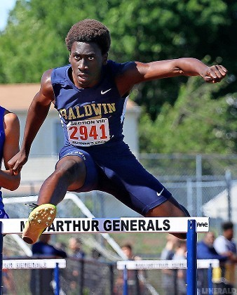 Baldwin's Russell Johnson placed sixth in Nassau Class AAA in the 400 hurdles after a second-place showing in the Division 1B meet.