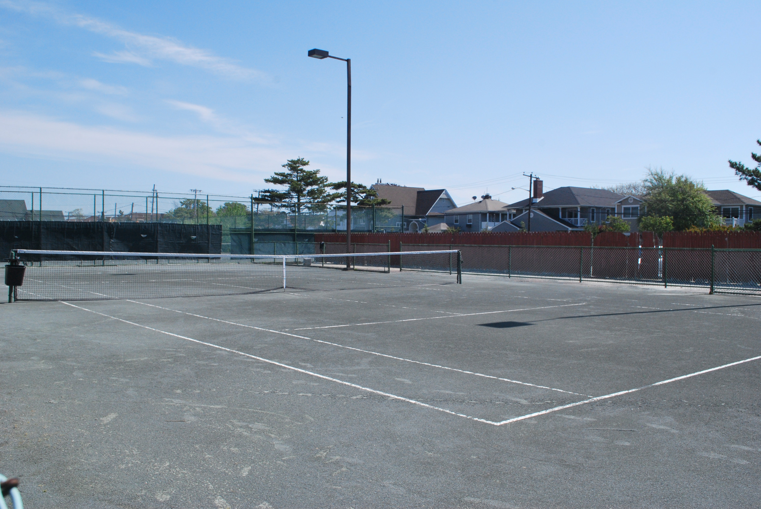 Center Court is one of 13 playing areas at the Atlantic Beach Tennis Center.