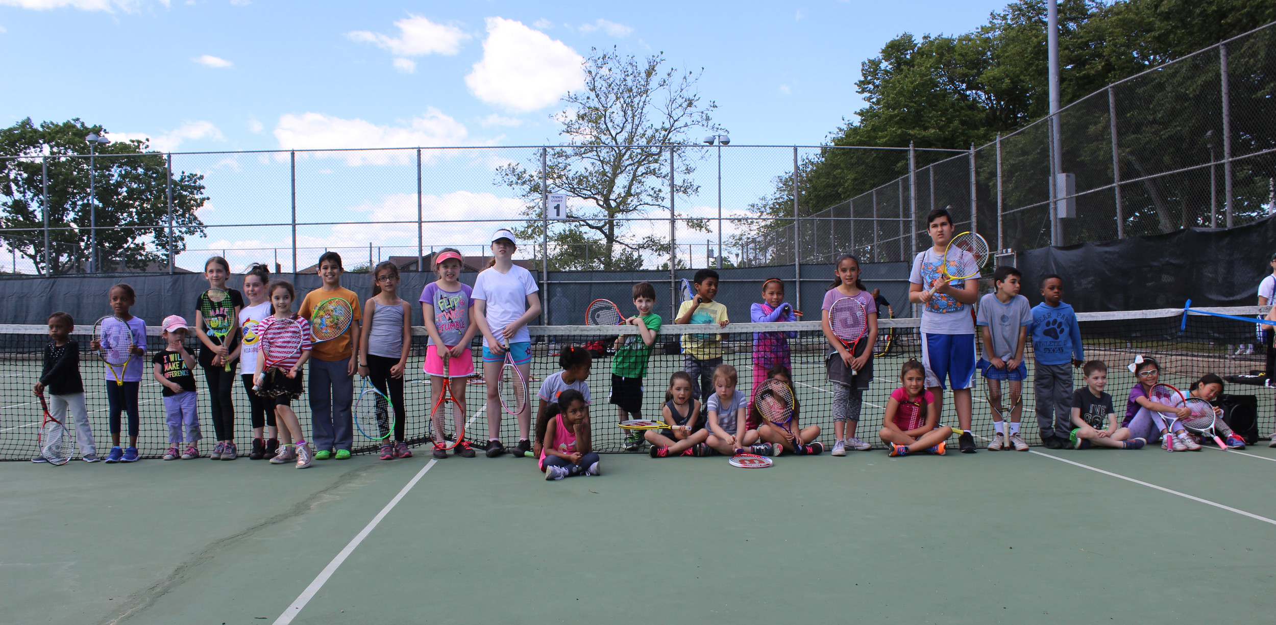 Children and families from across Nassau County learned to play tennis under the instruction of Fabiana Rezak, a Merrick resident and longtime U.S. Tennis Association volunteer.