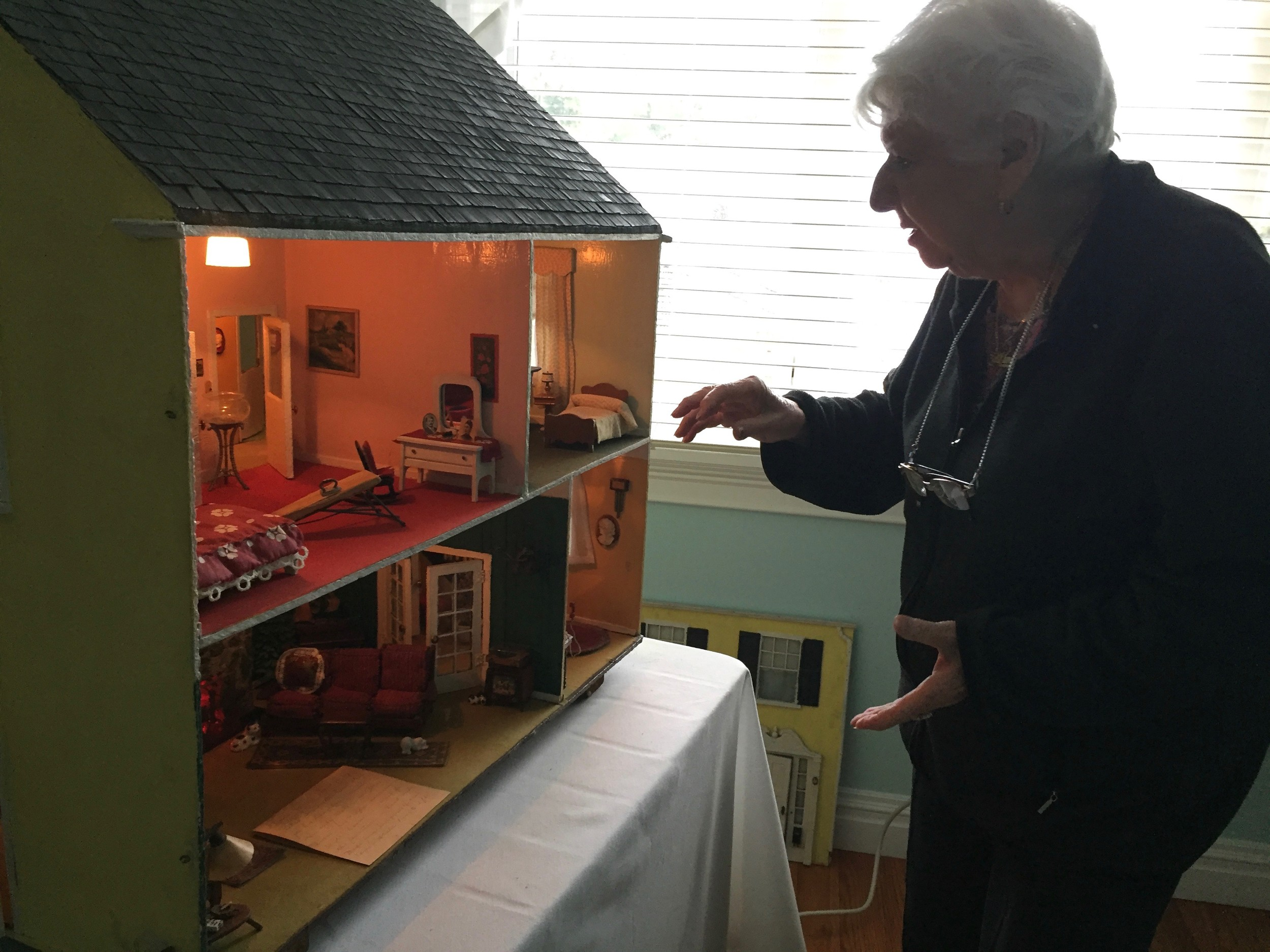 Mimi Simonetti's dollhouse is 80 years old, which is almost as old as she is.